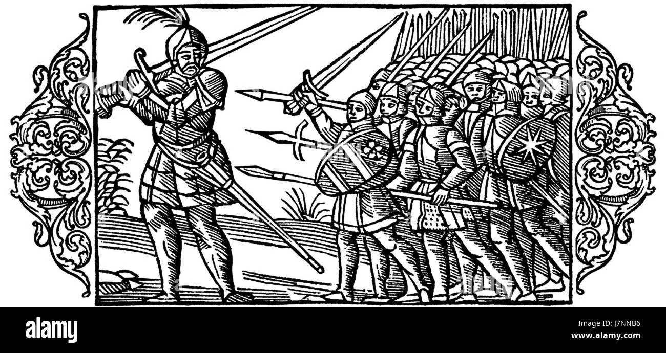Defence of the oppressed   Olaus Magnus 1555 - Stock Image