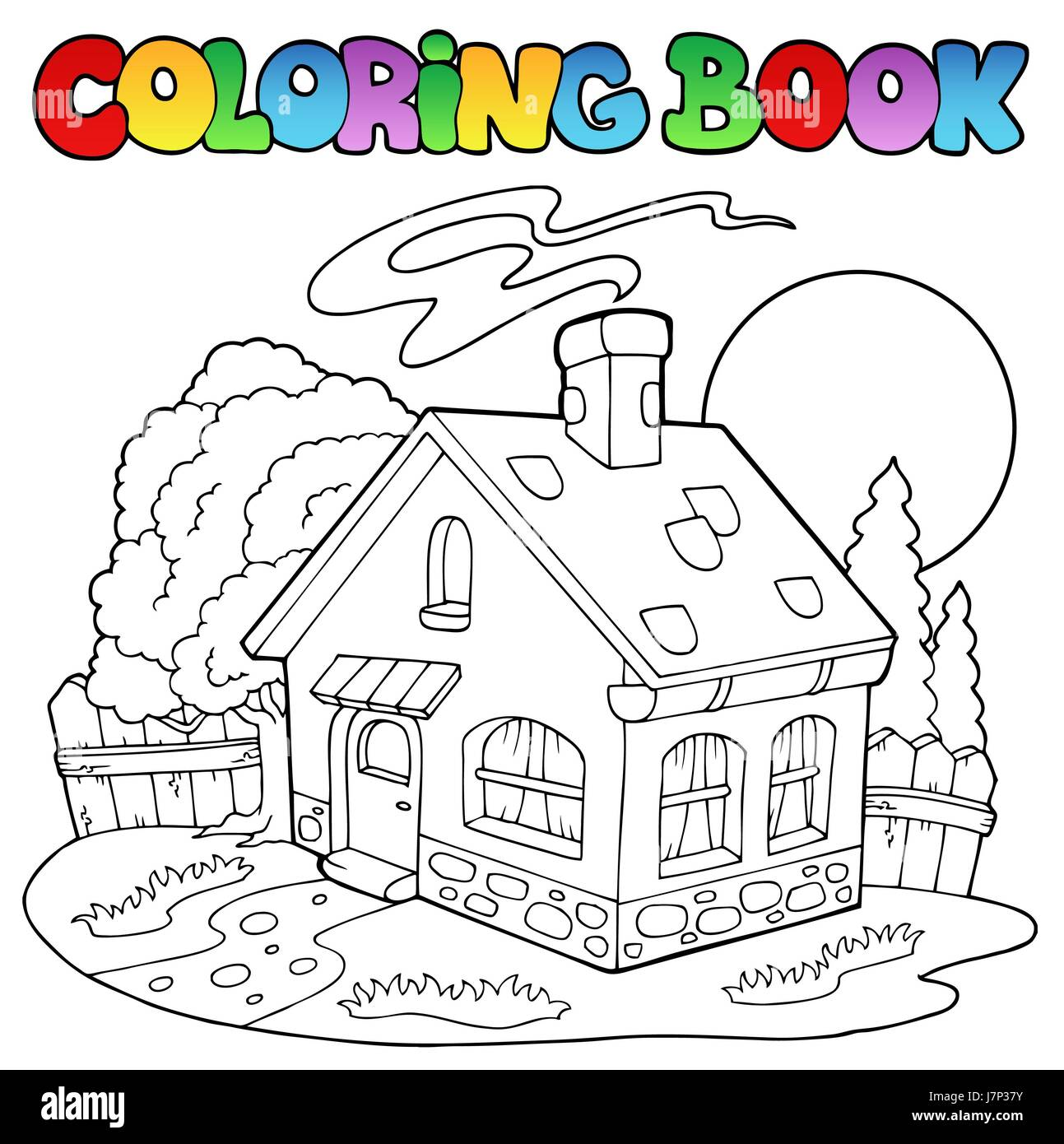 House Building Colour Paint Painted Home Colouring Book Smoke Smoking Smokes