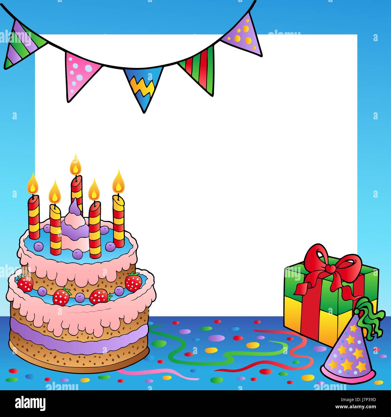 present composition cake pie cakes gift imagining frame packet Stock ...