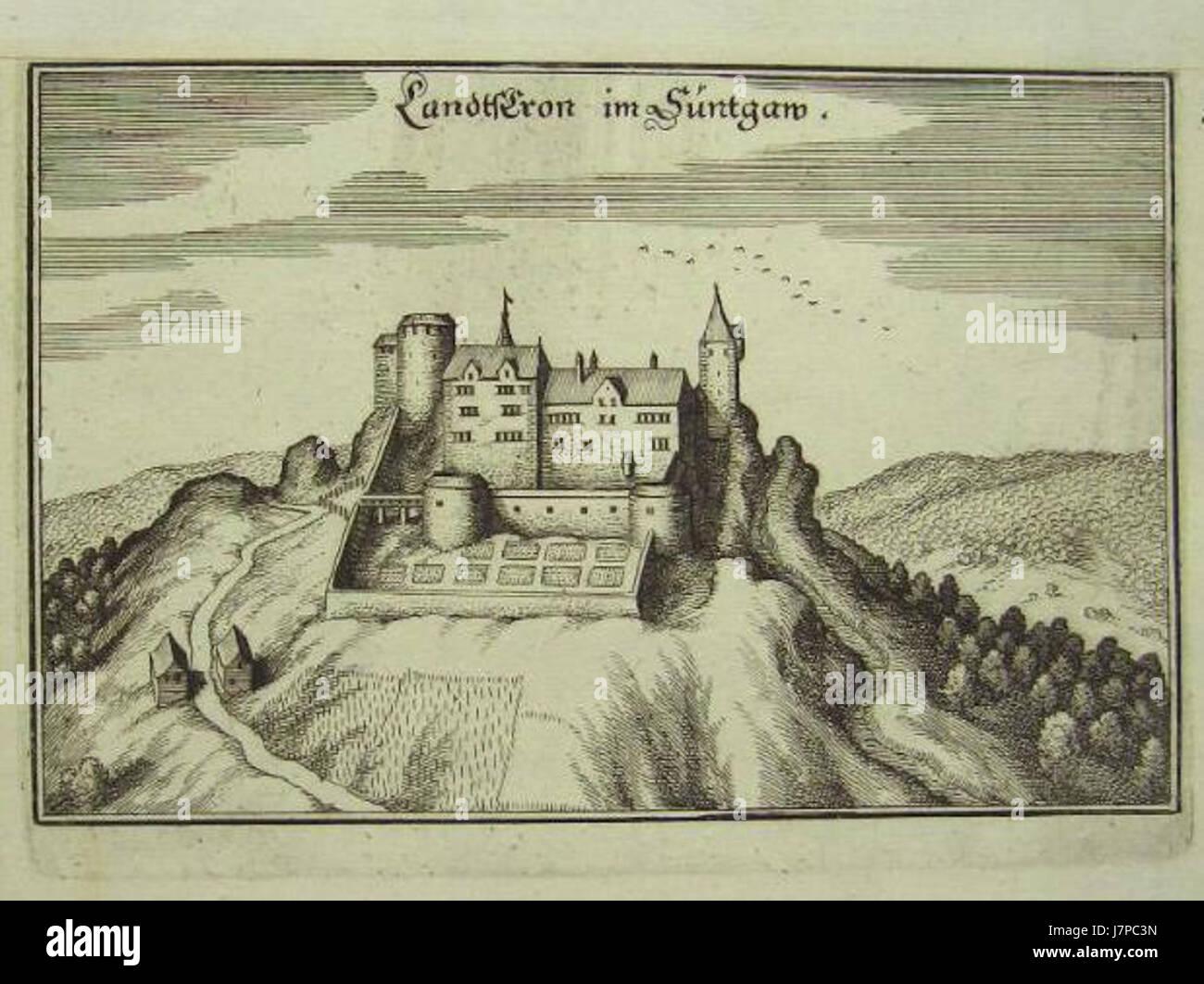 Burg Landskron im Elsass Stock Photo