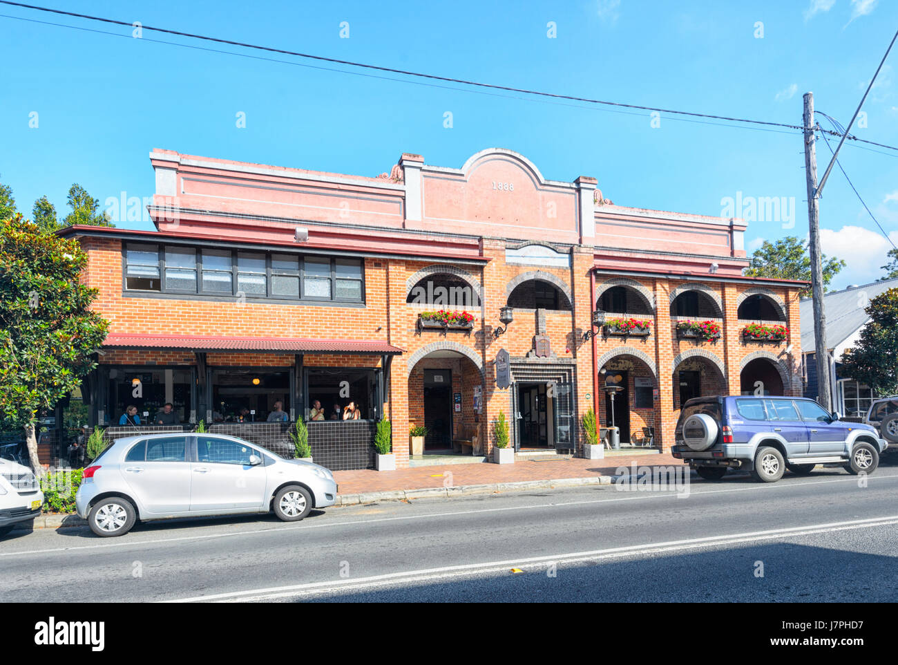 Berry Hotel, restaurant and accommodation, 1888, Berry, New South Wales, NSW, Australia - Stock Image