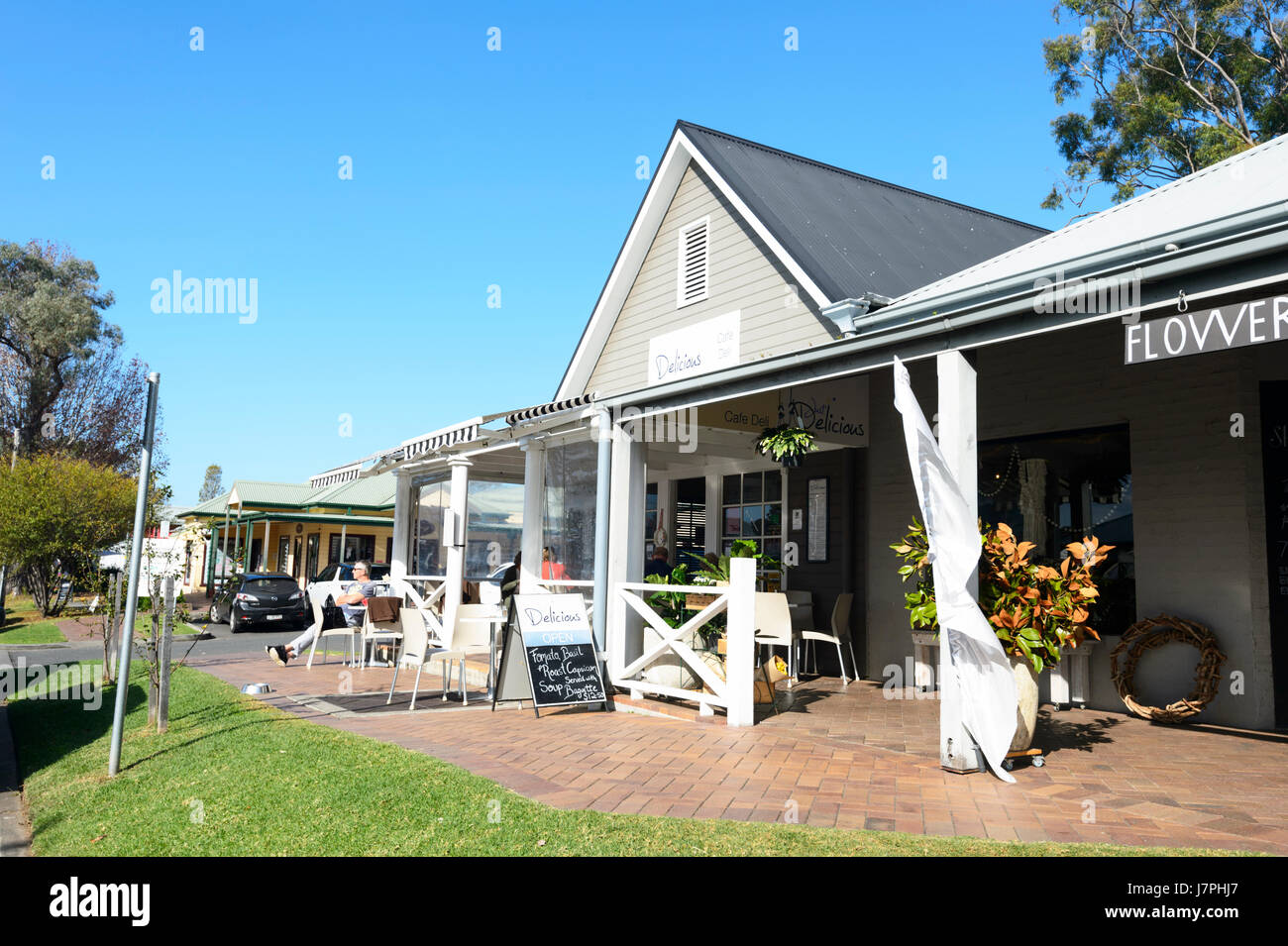 Delicious Coffee Shop & Deli, Berry, New South Wales, NSW, Australia - Stock Image