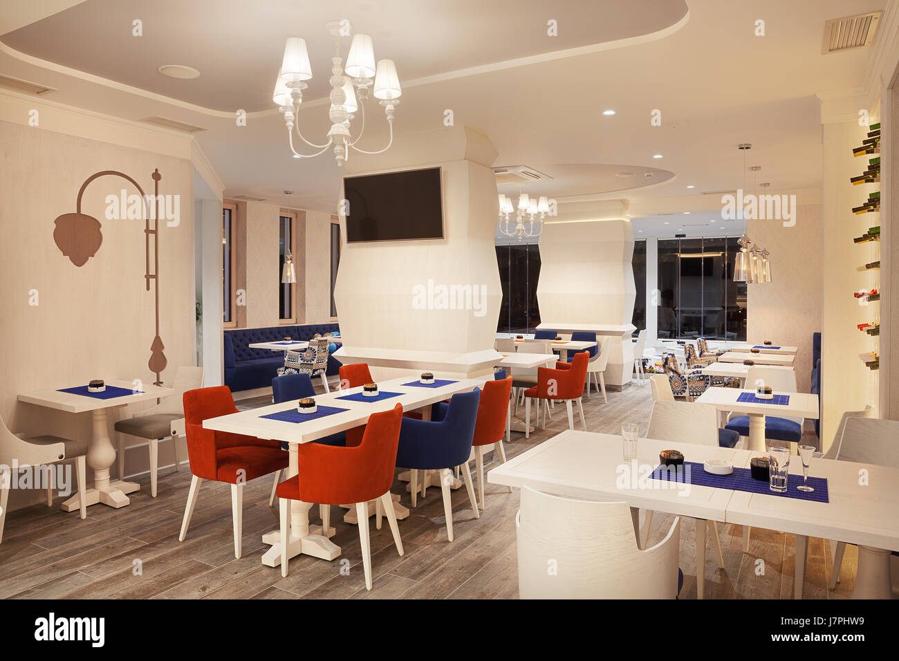 Interior Of A Modern And New Luxury Restaurant Stock Photo Alamy