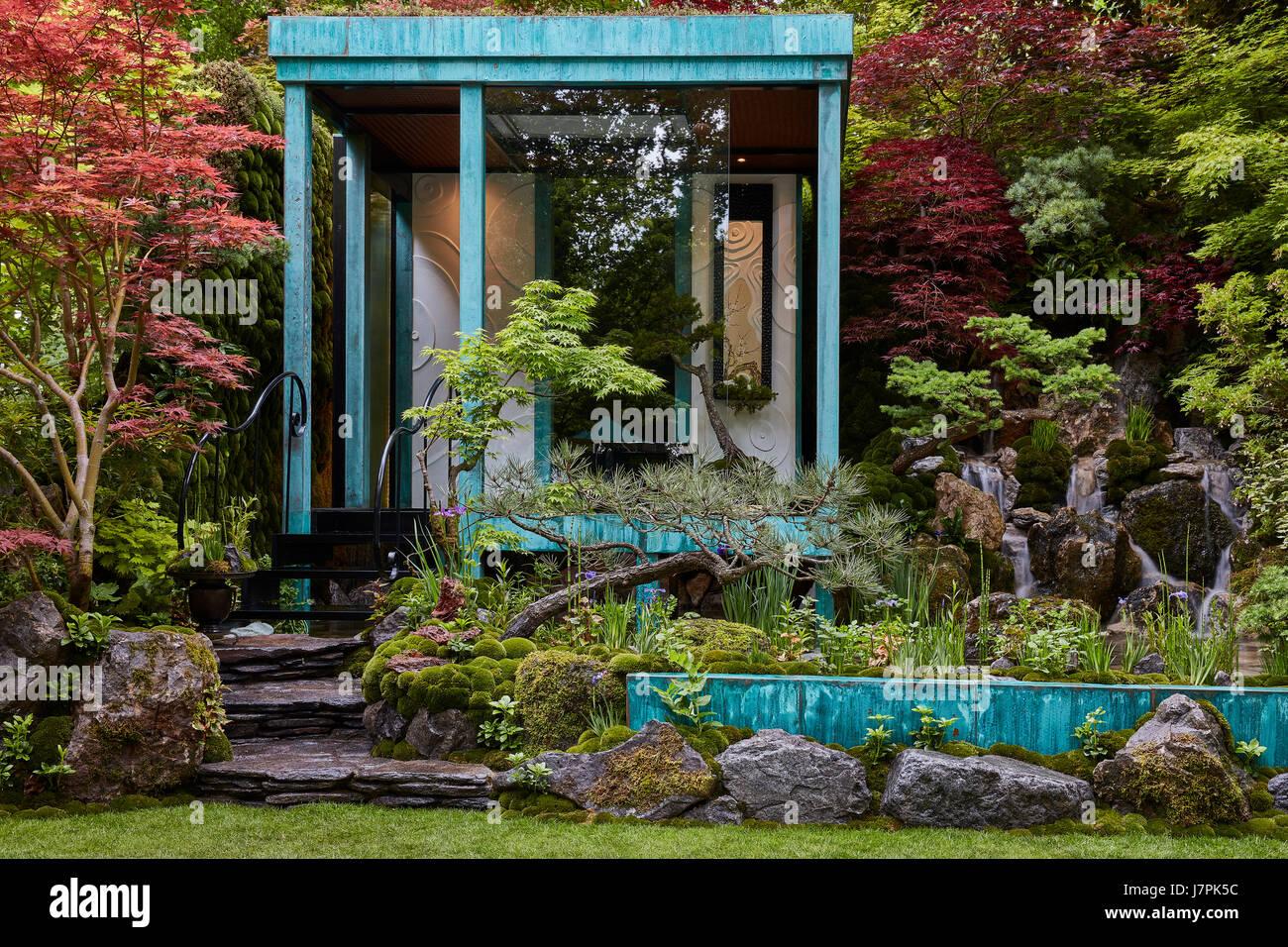 RHS Chelsea Flower Show 2017 Show Gardens - Stock Image
