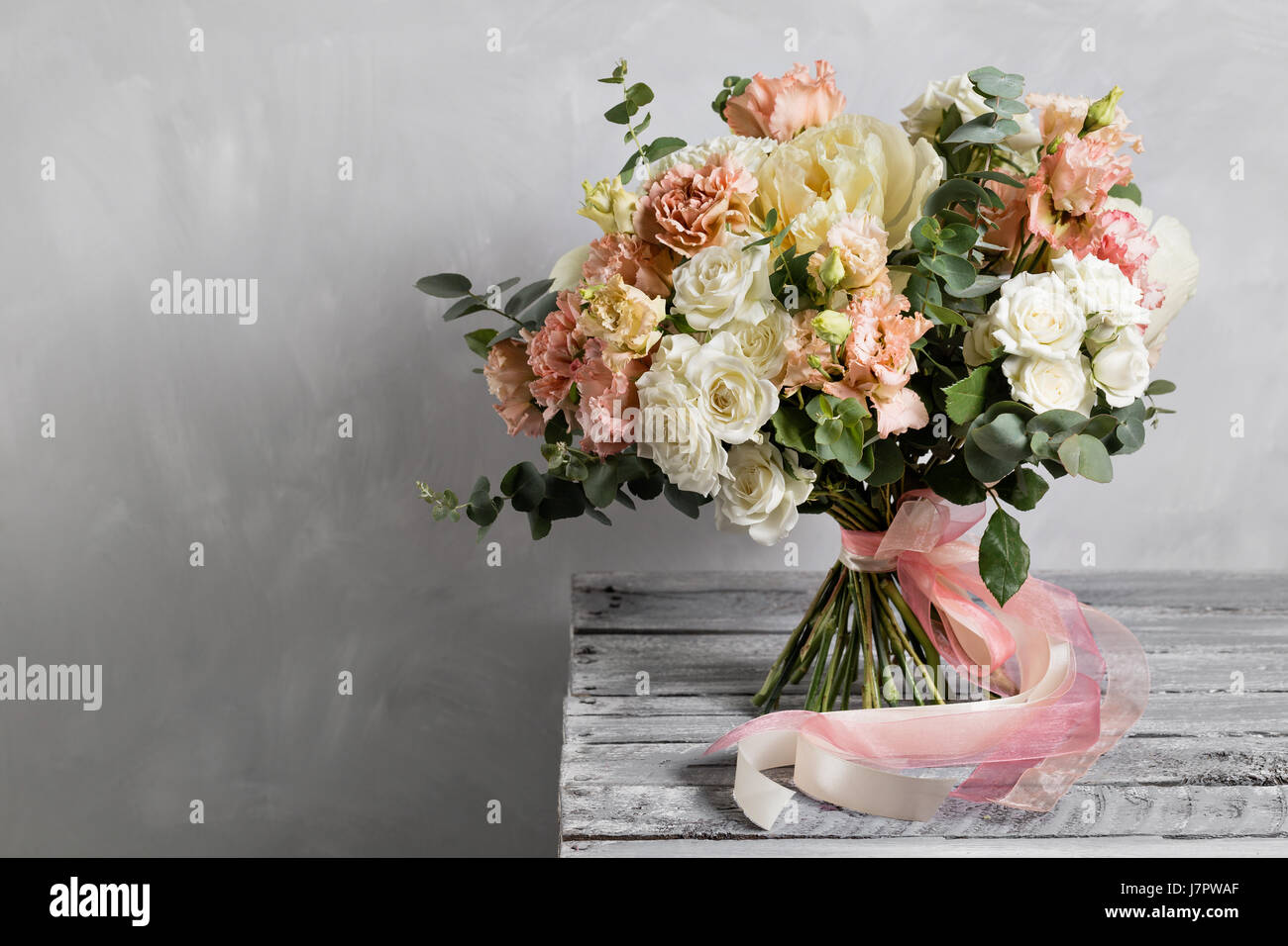 Vintage bouquet stock photos vintage bouquet stock images alamy bridal vintage bouquet the brides beautiful of mixed flowers and greenery decorated with izmirmasajfo