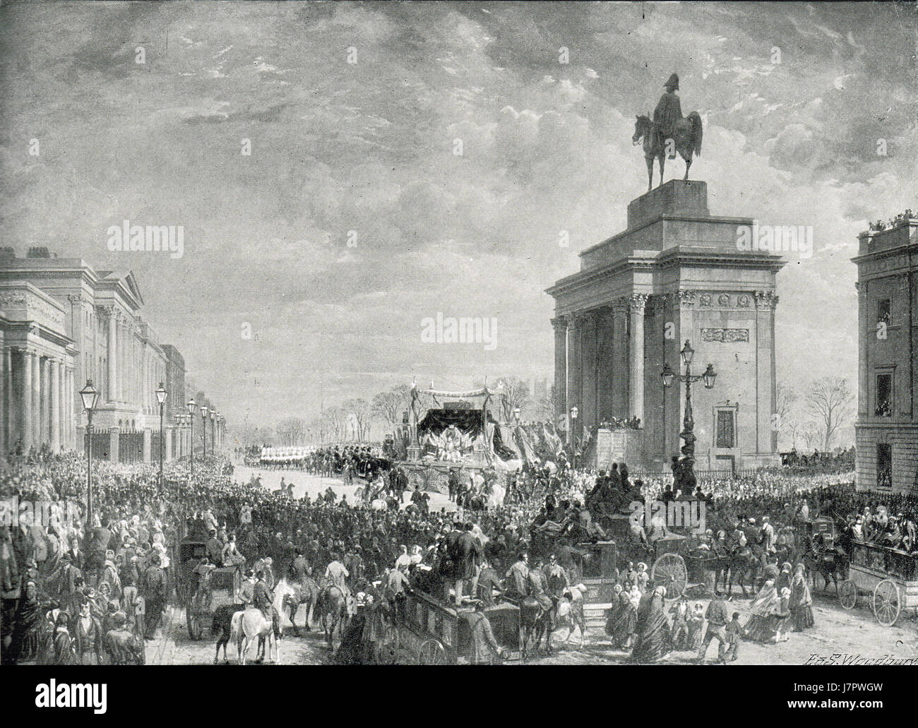 State Funeral of the Duke of Wellington 1852 - Stock Image