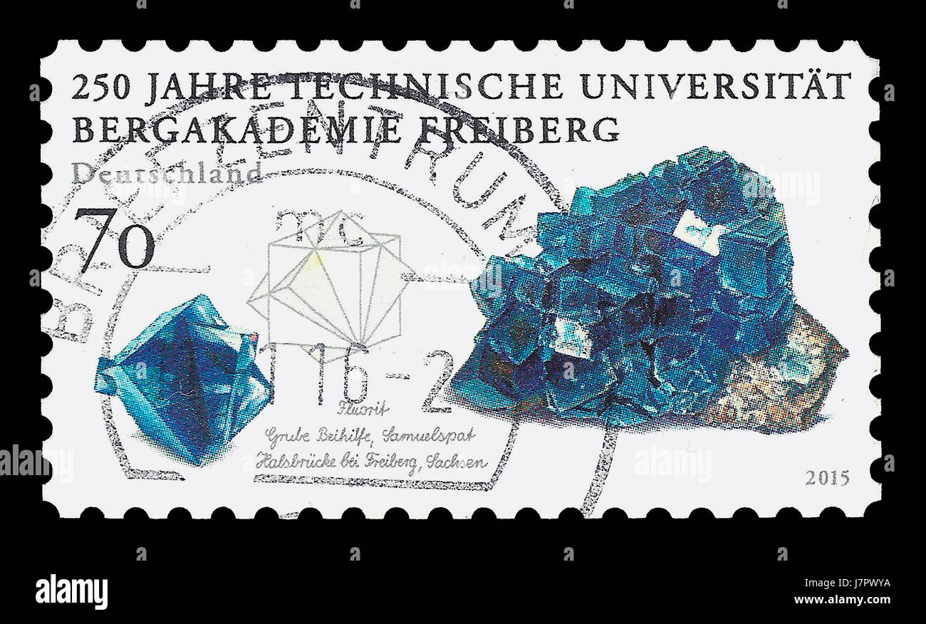 Postage Stamp : Germany 2015 , 250 years Freiberg University of Mining & Technology - Stock Image