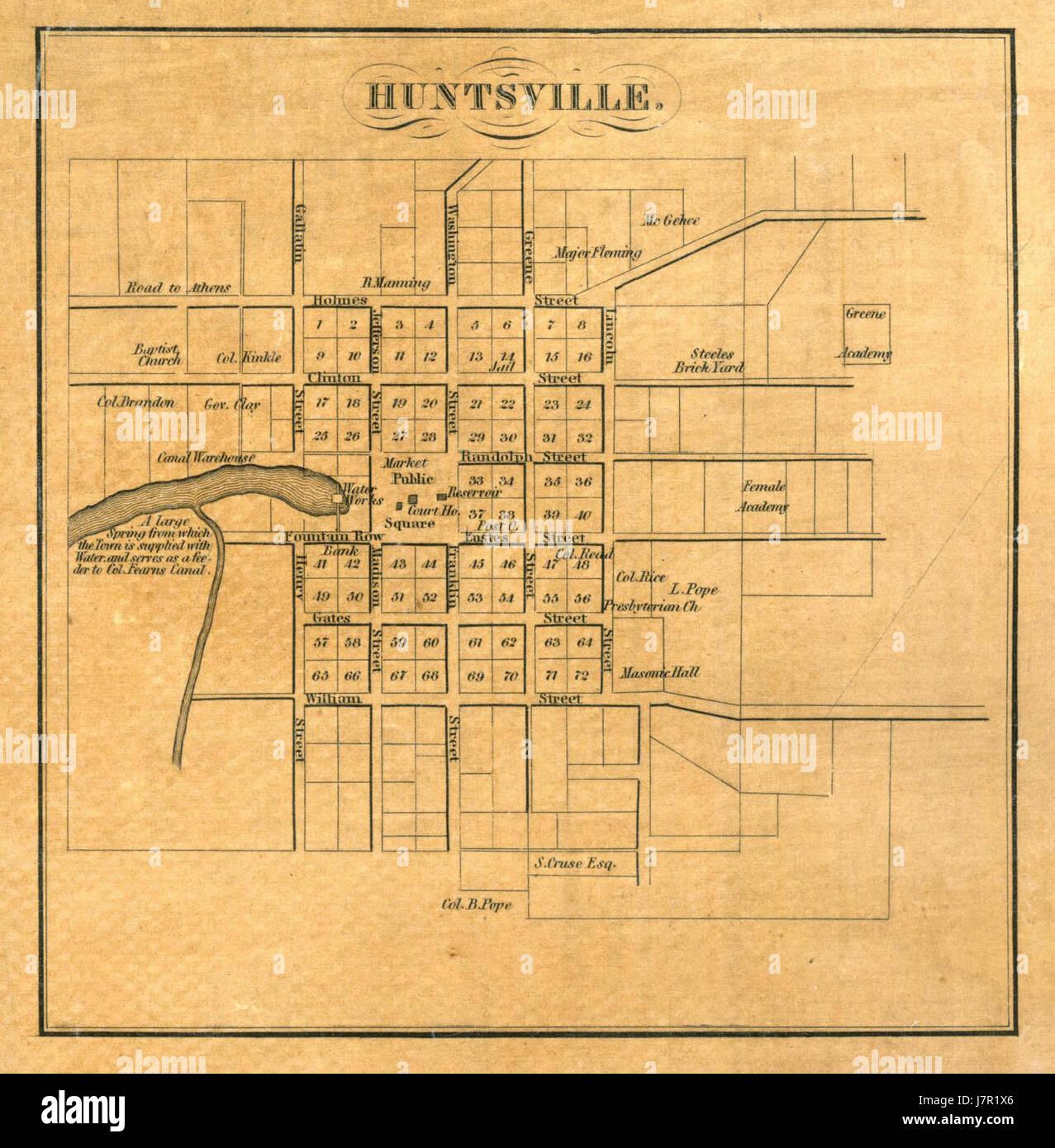 Map Of Huntsville Alabama Stock Photos & Map Of Huntsville ...