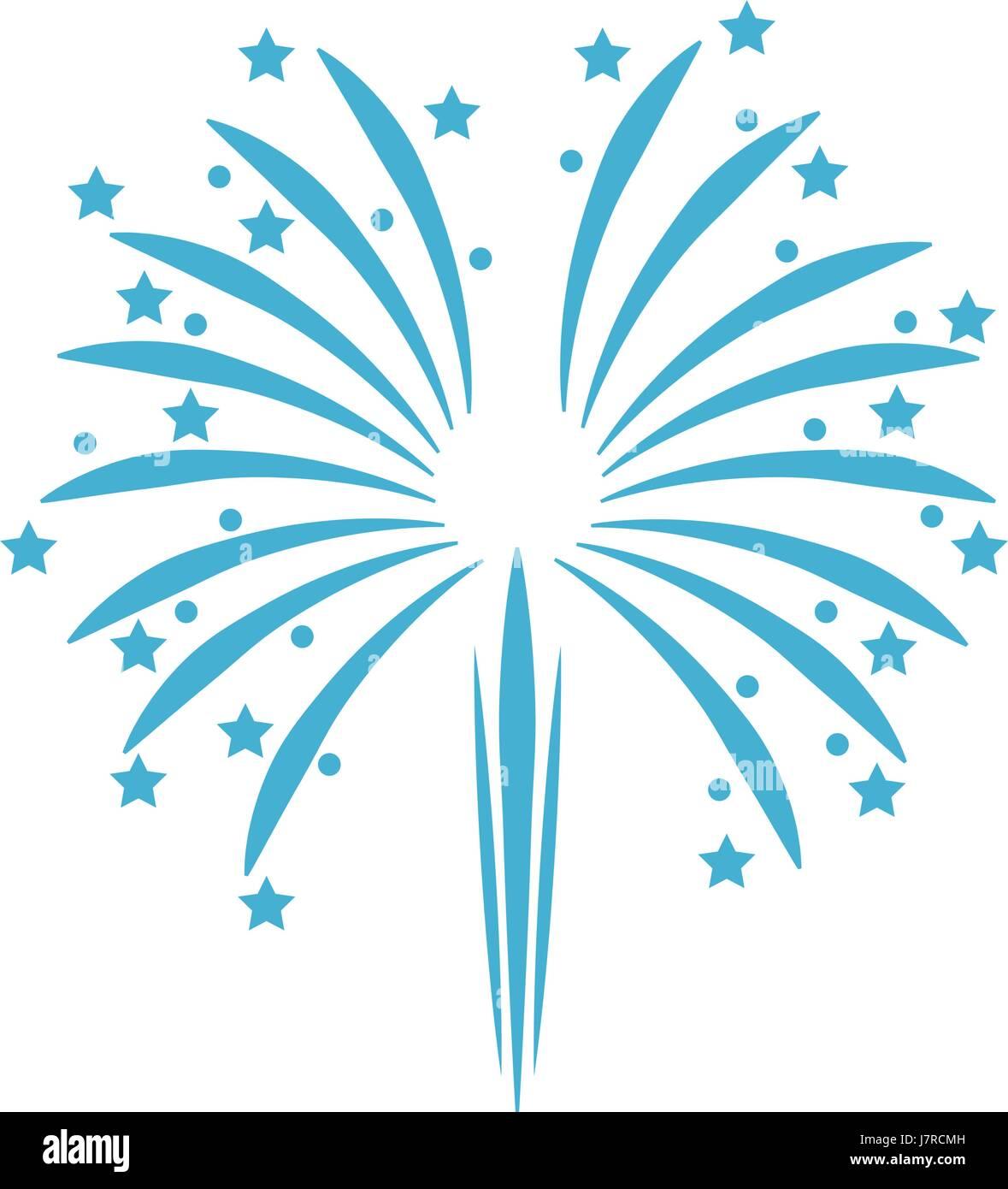 blue firework celebration patriotism national party - Stock Image