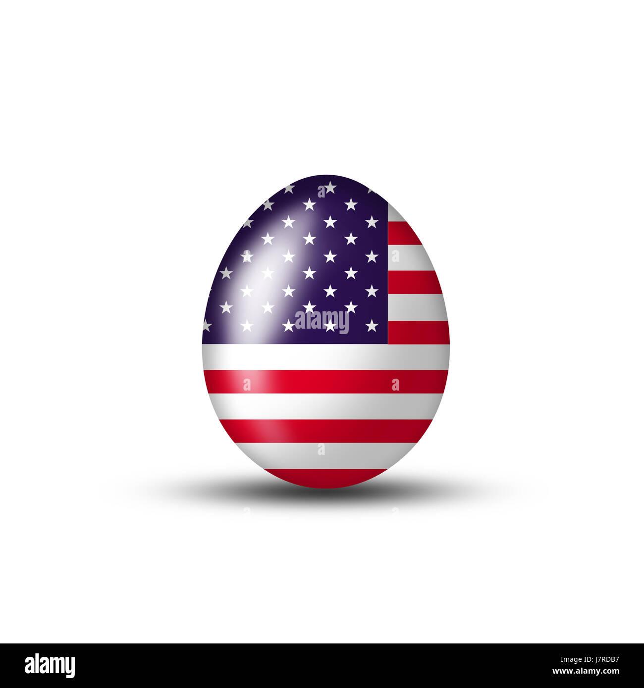 usa america easter flag egg eggs Easter eggs new york blue