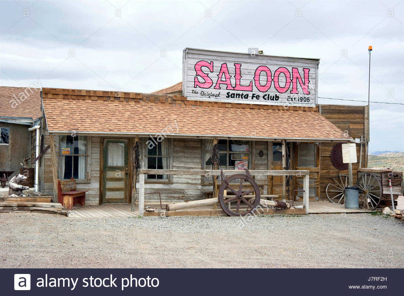 Old west style Saloon in the ghost town of Goldfield, Nevada, USA - Stock Image
