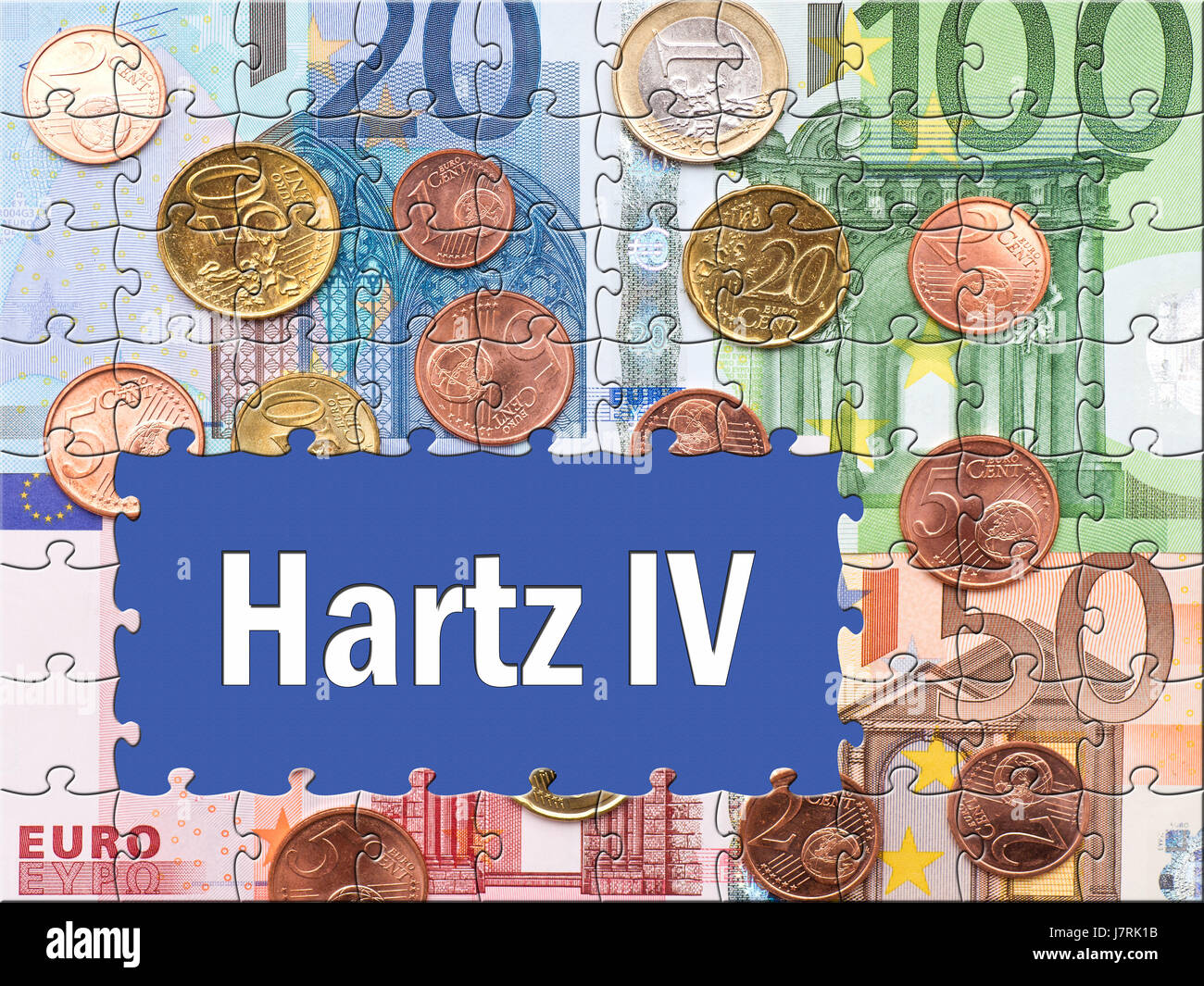 euro unemployment labour exchange hartz assistance help support aid unemployed - Stock Image