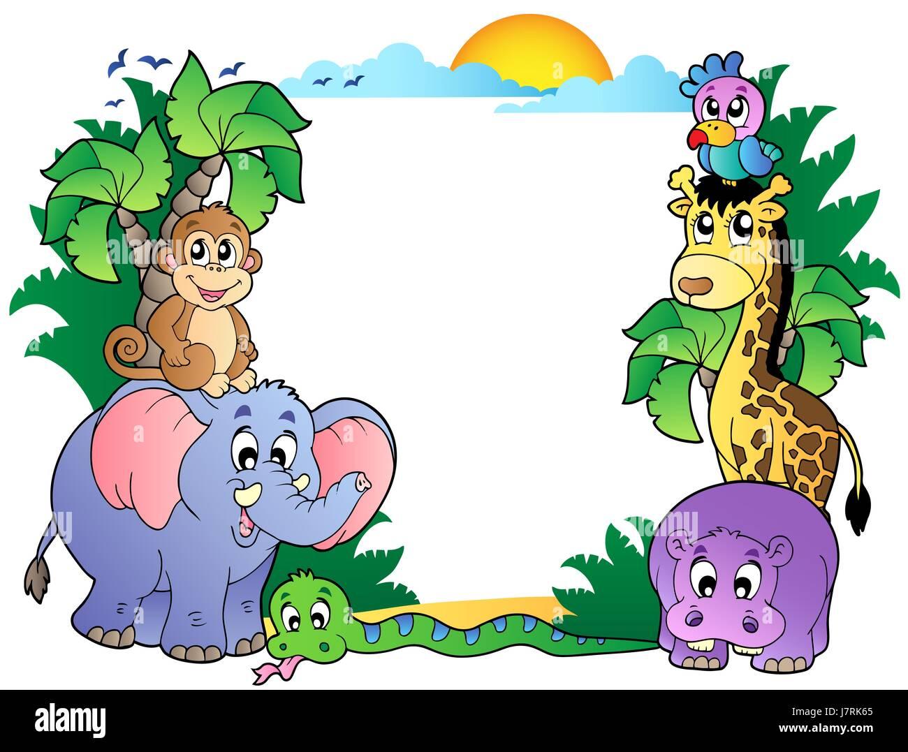 composition animal africa animals African safari frame framework ...