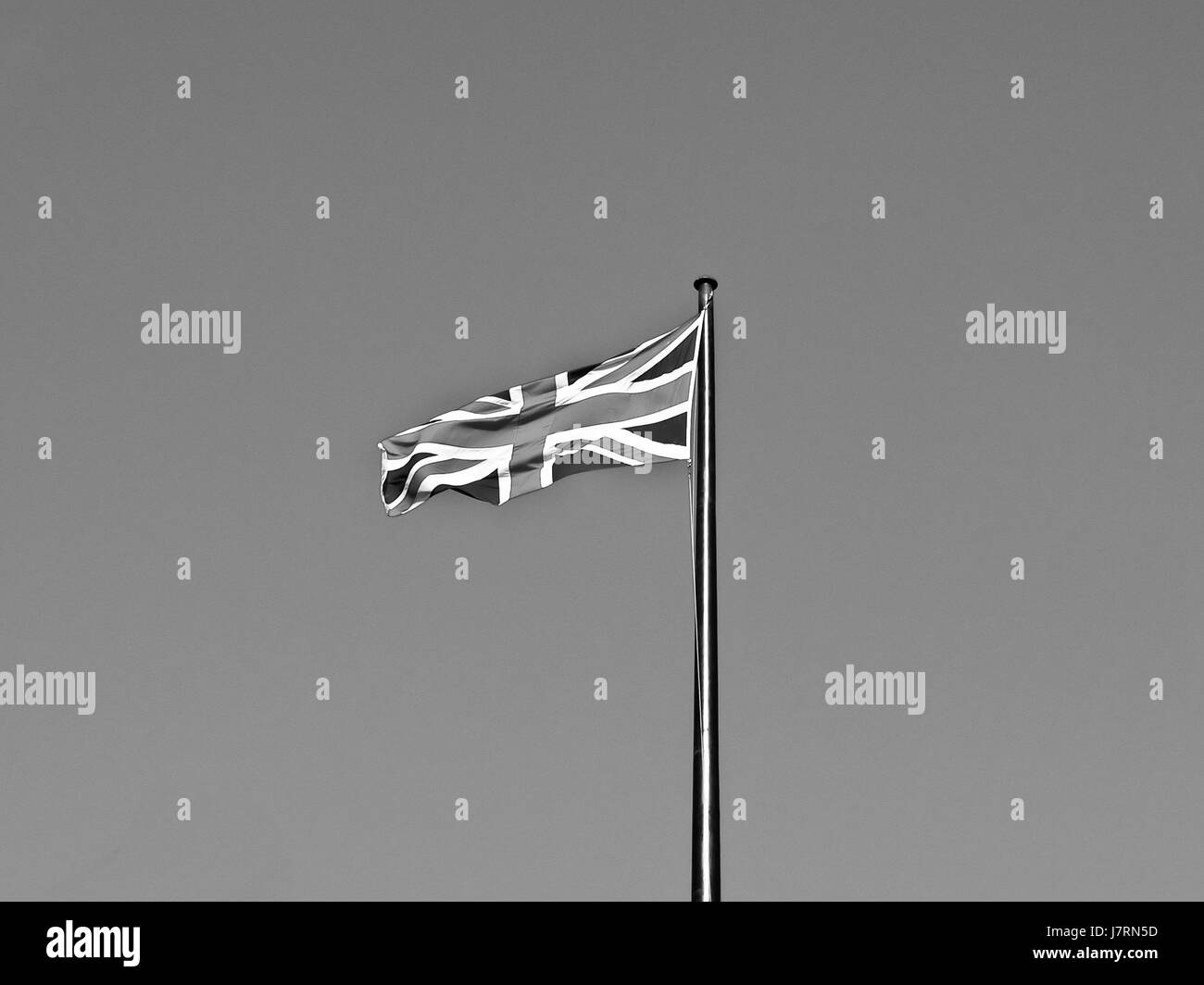 england flag jack clicking british britain journal box english flagpole england - Stock Image