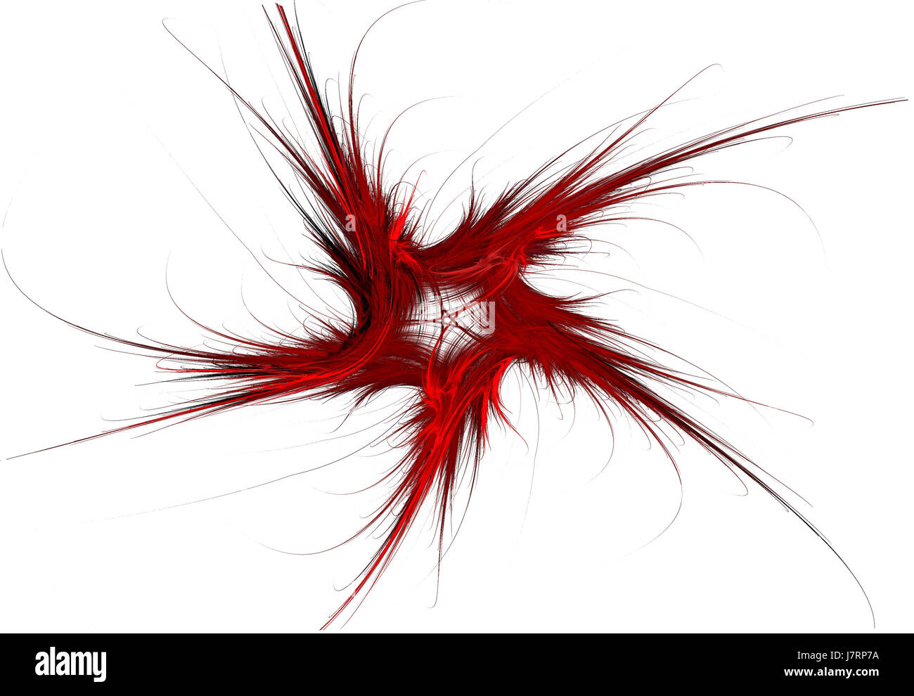 graphic fractal patriotic conspicuous pictographic transparent computers - Stock Image