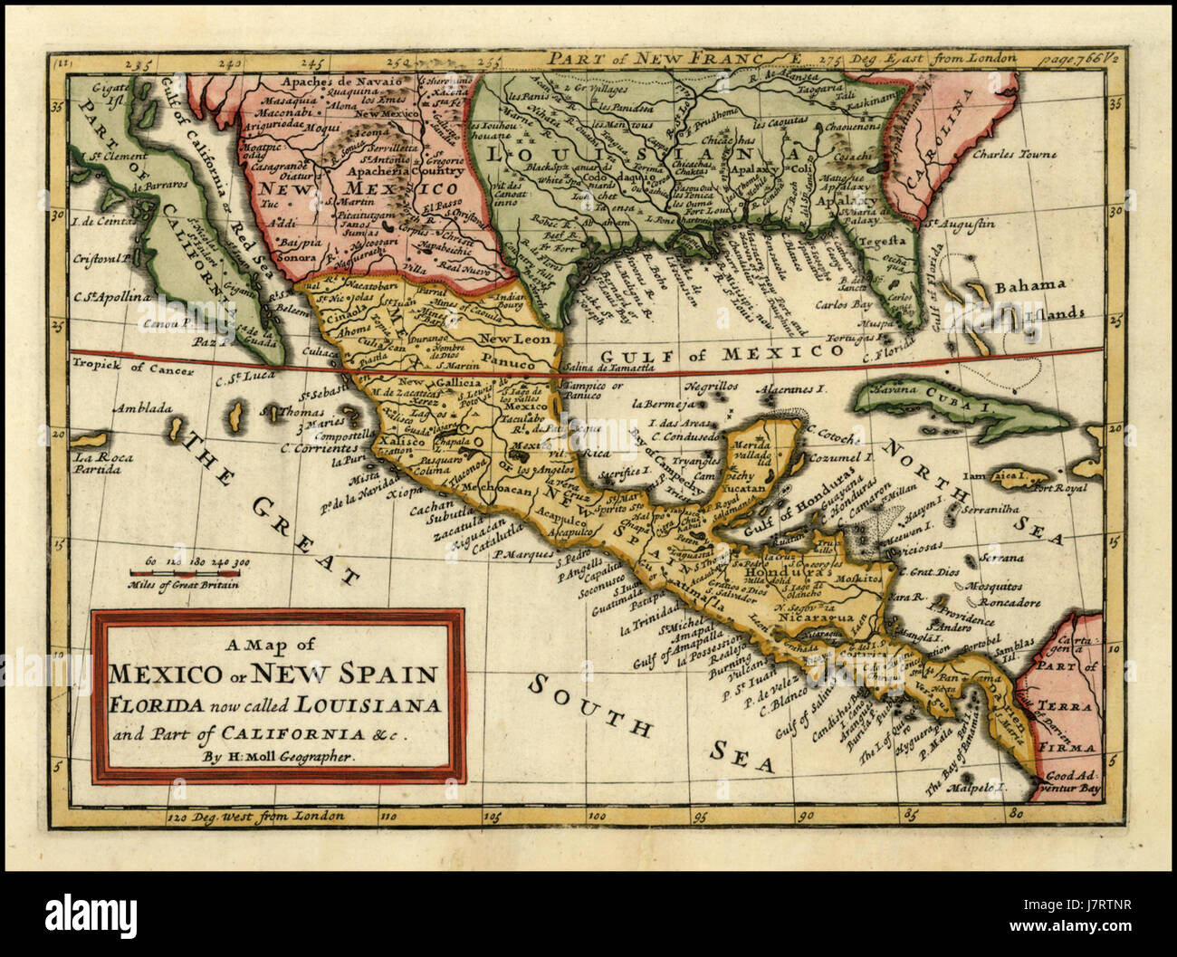 Mexico Florida Map.A Map Of Mexico Or New Spain Florida Now Called Louisiana And Part