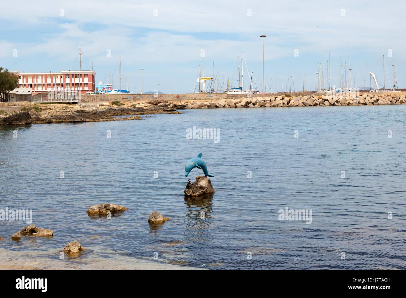 The coastline of Northern Sardinia at Porto Torres - Stock Image