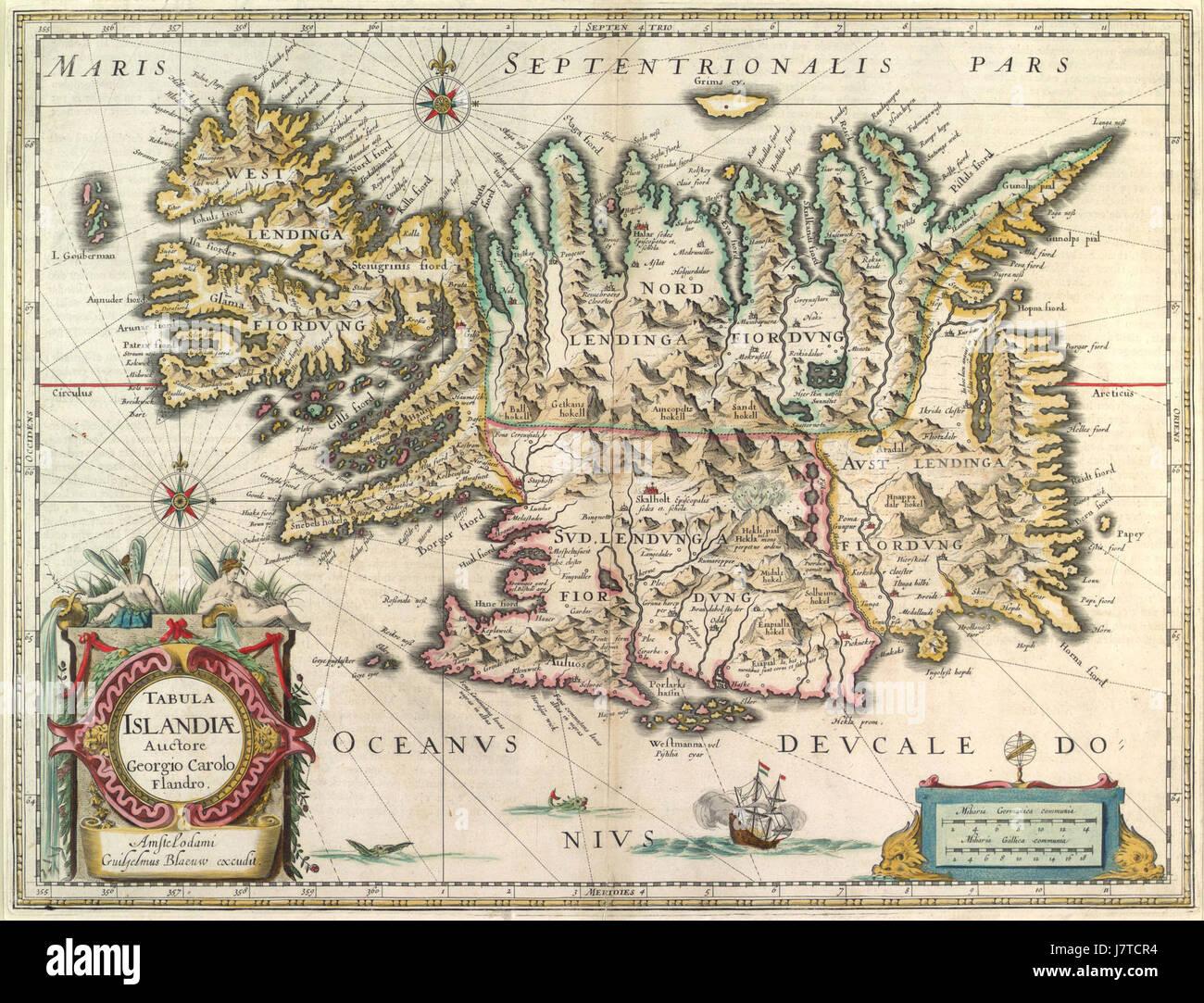 1630 IJsland Blaeu HR' - Stock Image