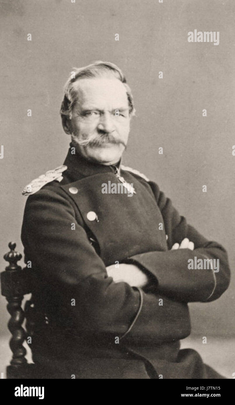 Count Albrecht von Roon circa 1870 - Stock Image