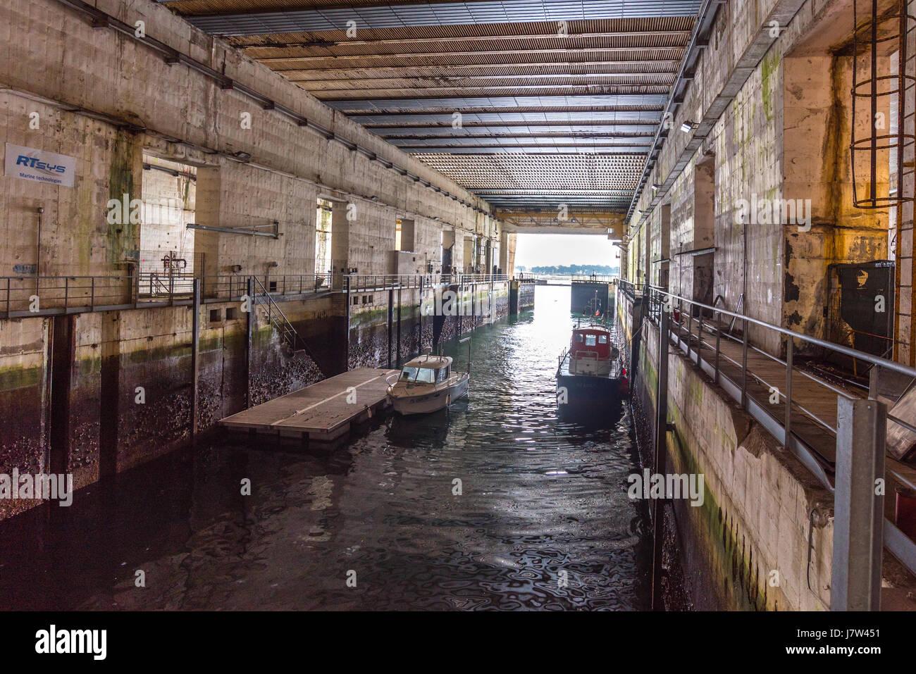 Second World War U Boat Pen In Keroman Iii Bunker Lorient