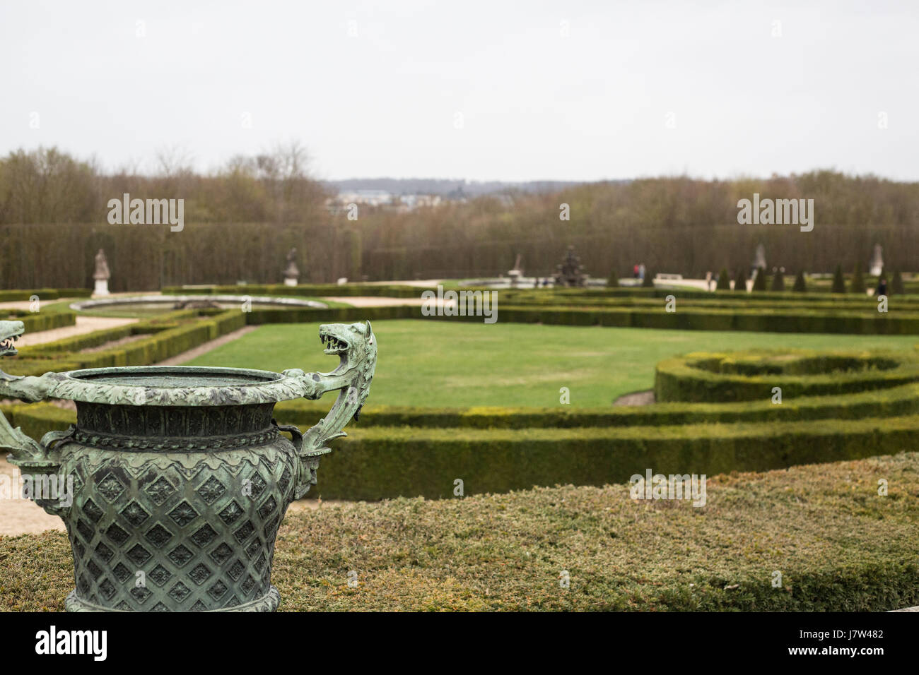 View of The Versailles Palace Gardens France - Stock Image