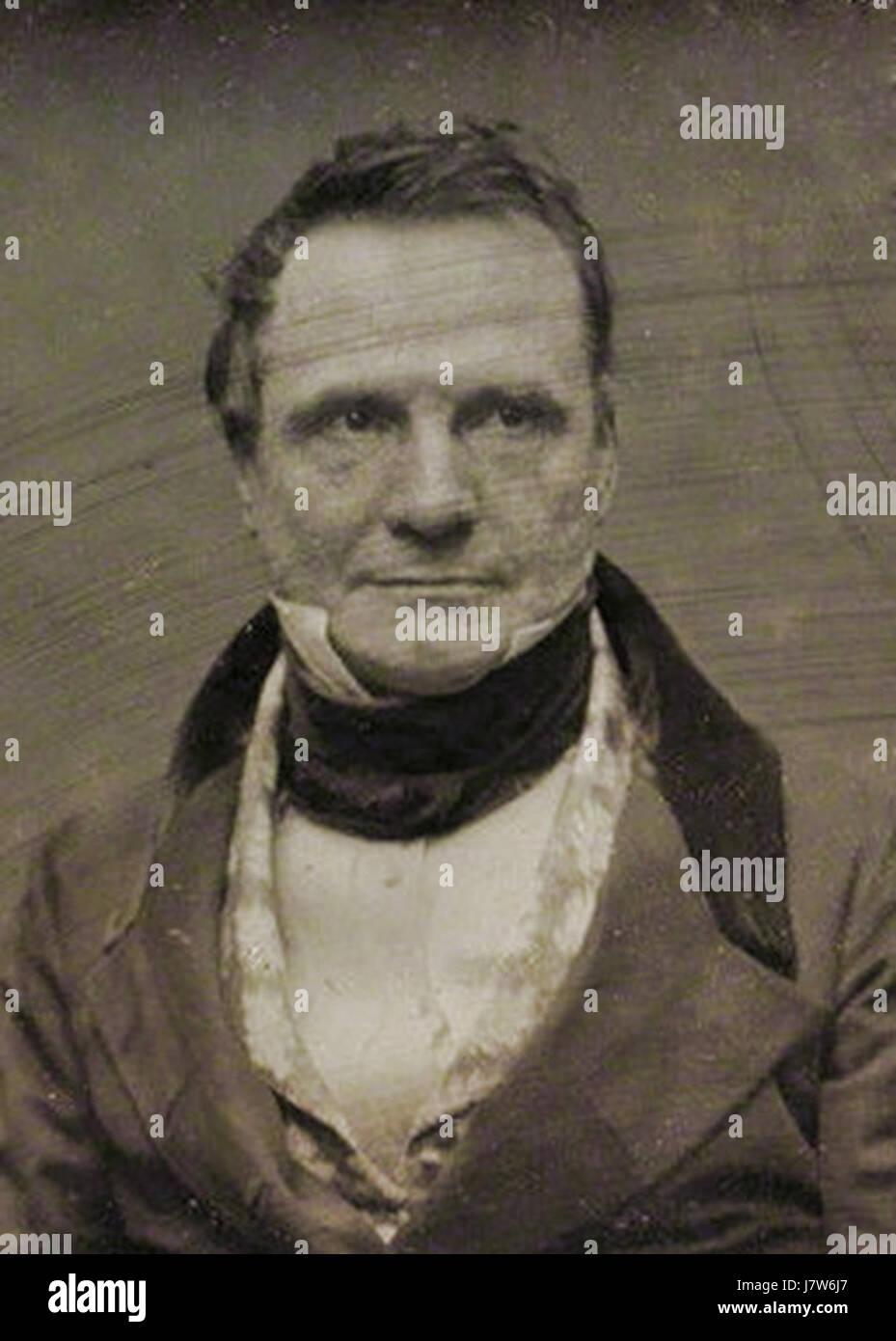 Charles Babbage by Antoine Claudet c1847 51 crop - Stock Image