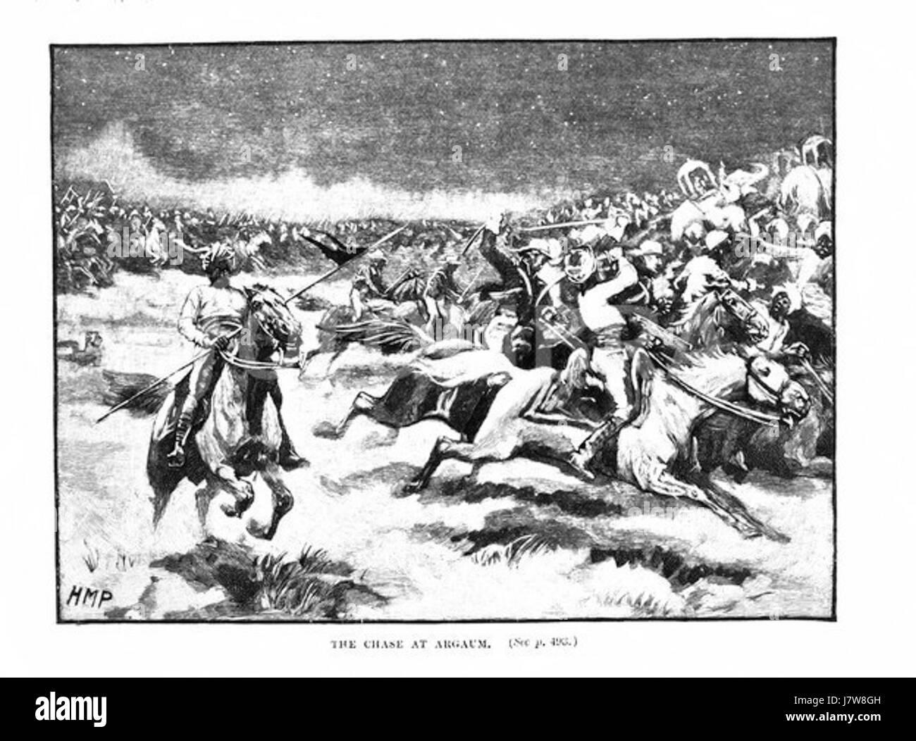 Battle of Argaon - Stock Image