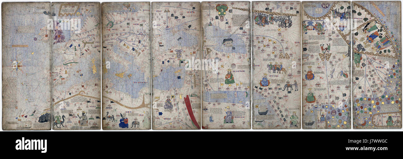 1375 Atlas Catalan Abraham Cresques Stock Photo