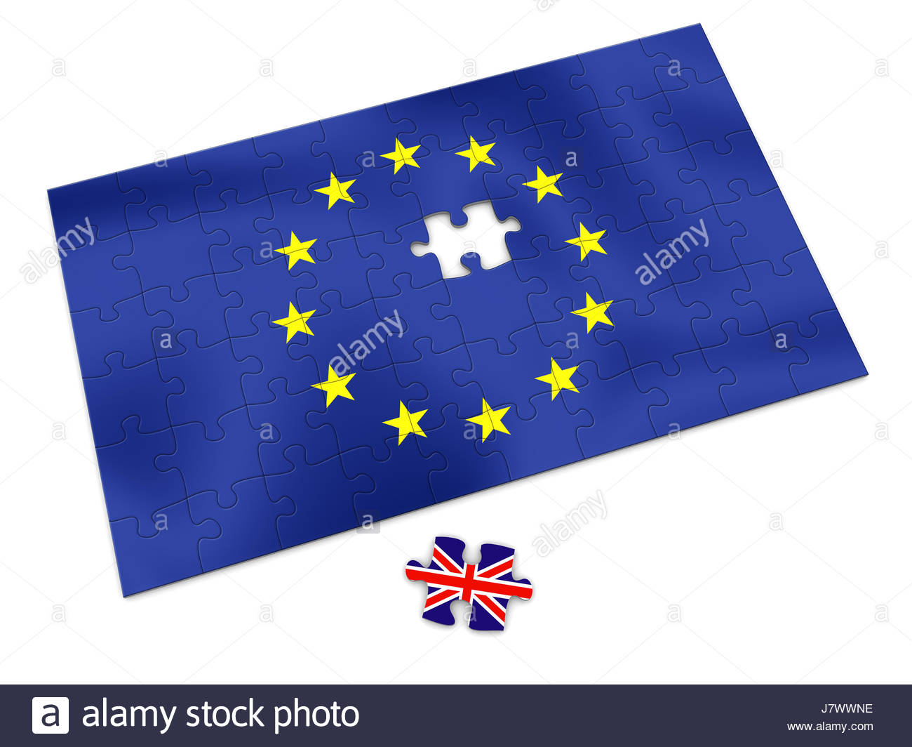 blank european caucasian europe england union jigsaw puzzle jigsaw puzzle - Stock Image