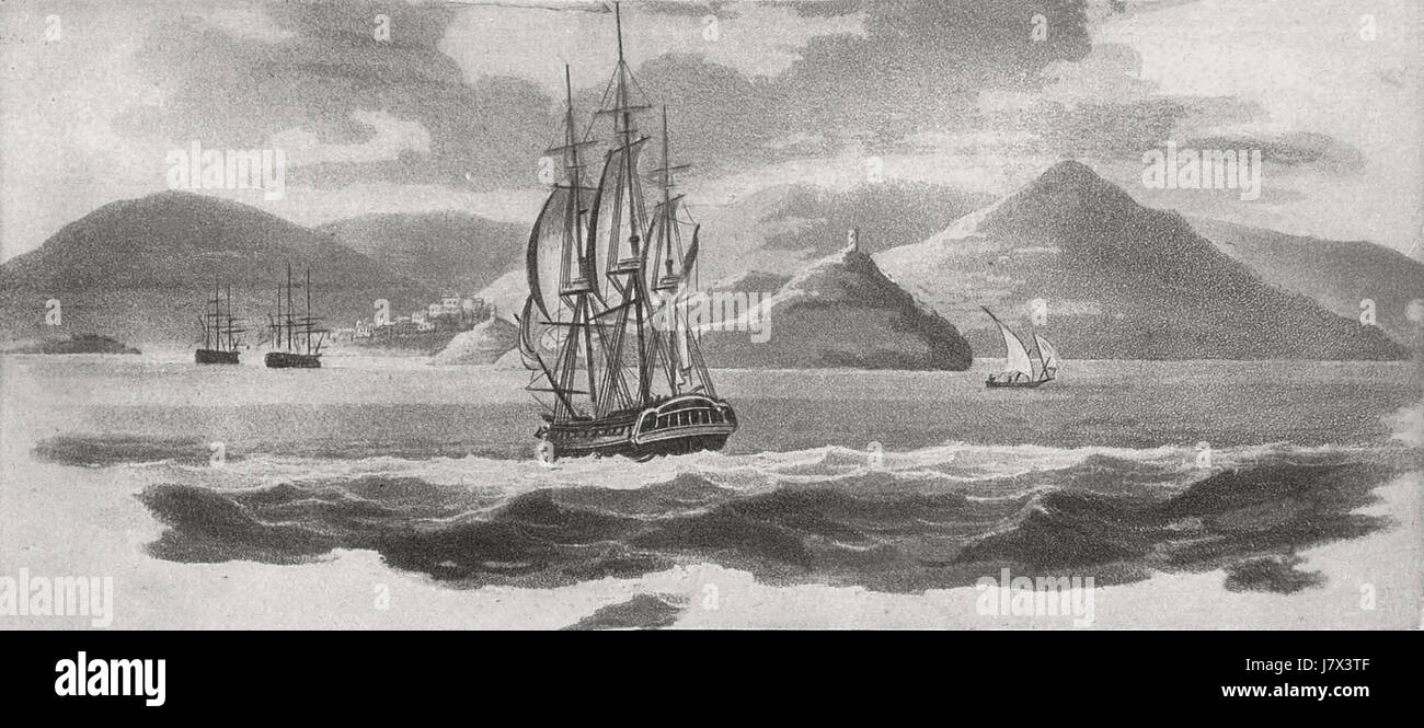 The Philadelphia near Tetuan, Morocco, 1803 - Stock Image
