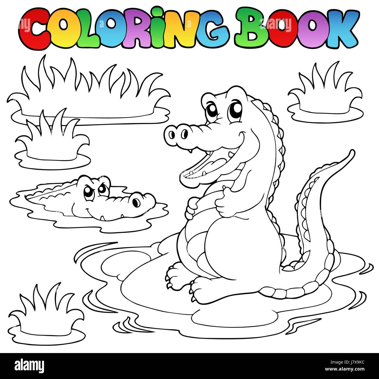colour crocodile paint painted colouring book big large ...