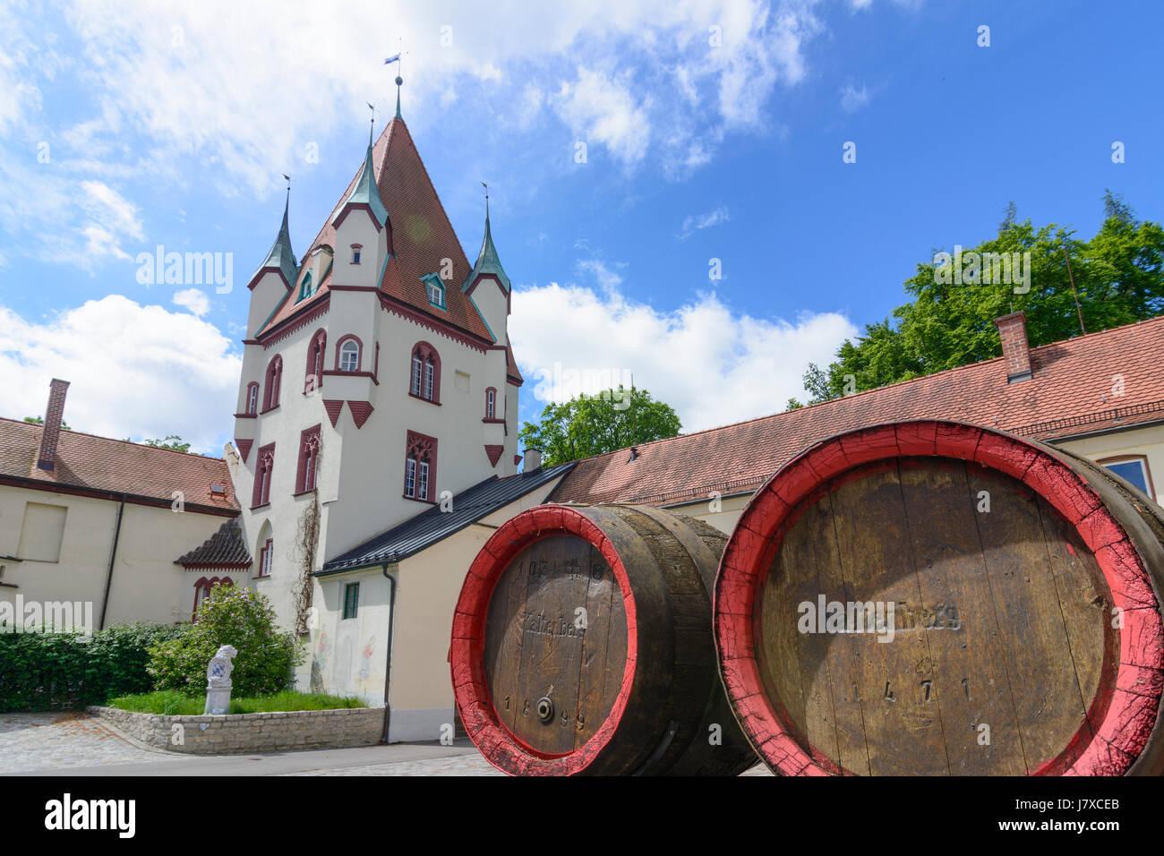 Kaltenberg Castle Barrels Of Brewery Geltendorf Oberbayern Upper Bavaria Bayern Bavaria Germany Stock Photo Alamy