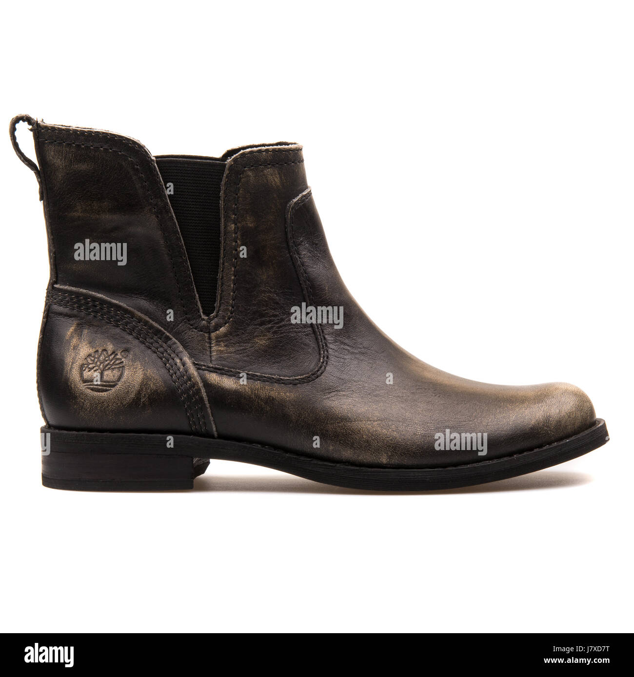 Timberland Savin Hill Chelsea Grey Women's Leather Boots - A1212 - Stock Image