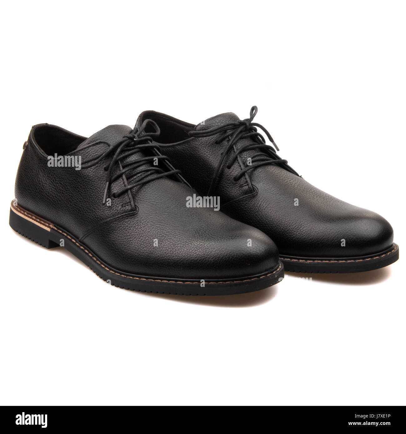 26e904d14230b Timberland Brook Park Men s Black Leather Waterproof Oxford Shoes -A127L -  Stock Image