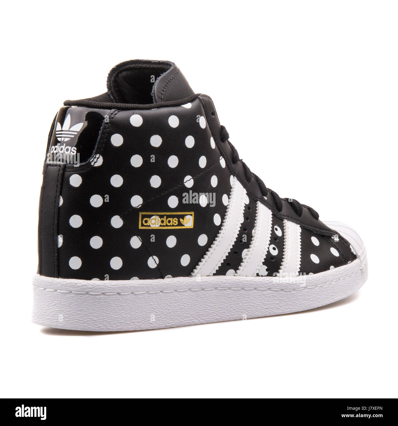daad4db2 Adidas Superstar UP W Women's Black With White Dots Sneakers - S81377 -  Stock Image
