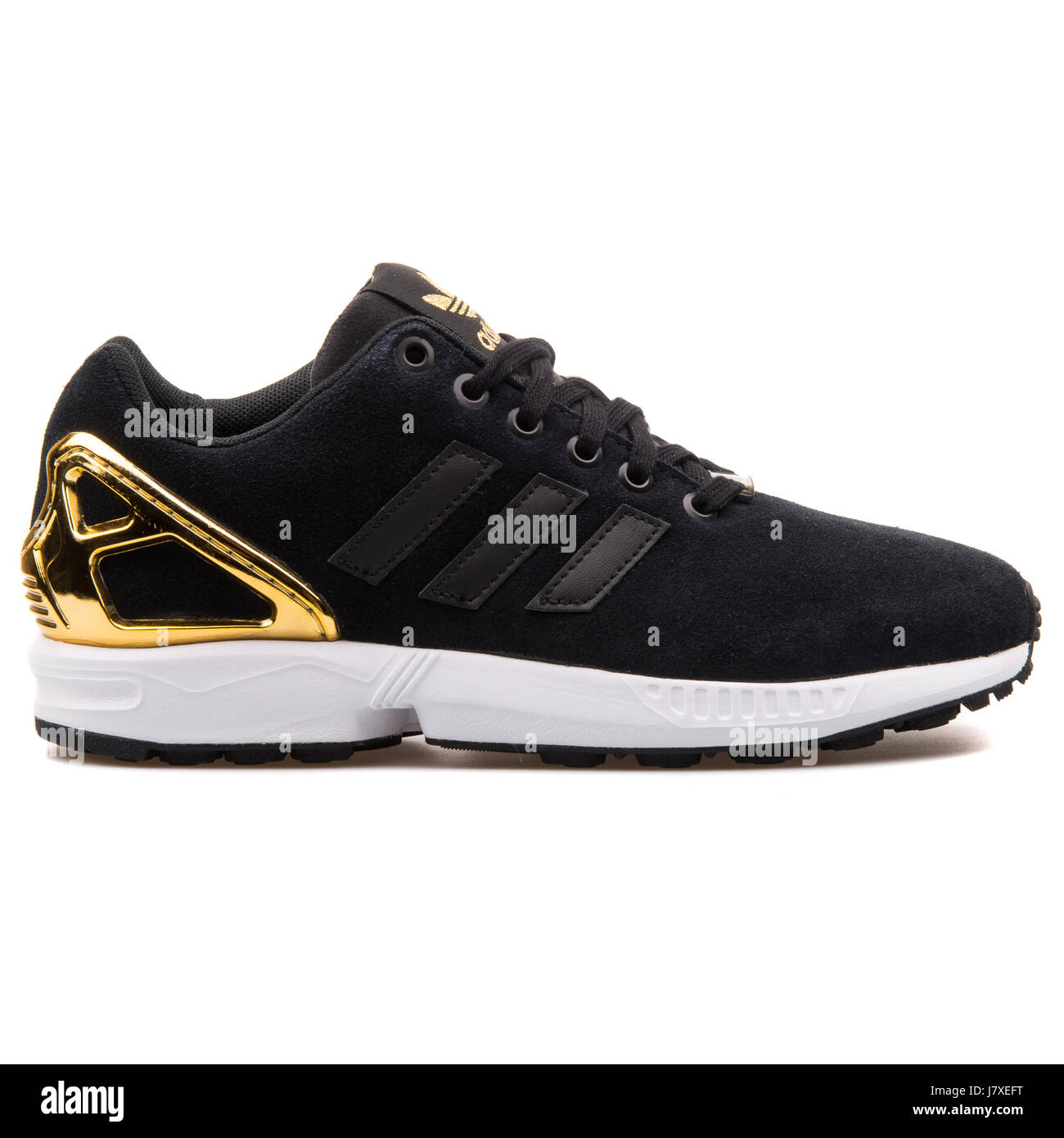online store 05d04 b6485 Adidas ZX Flux W Women's Black and Gold Sneakers - B35319 ...