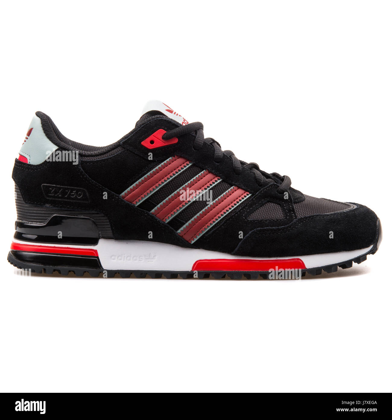 sports shoes 6b28e e41e8 Adidas ZX 750 Men's Black with Red Sneakers - B24856 Stock ...
