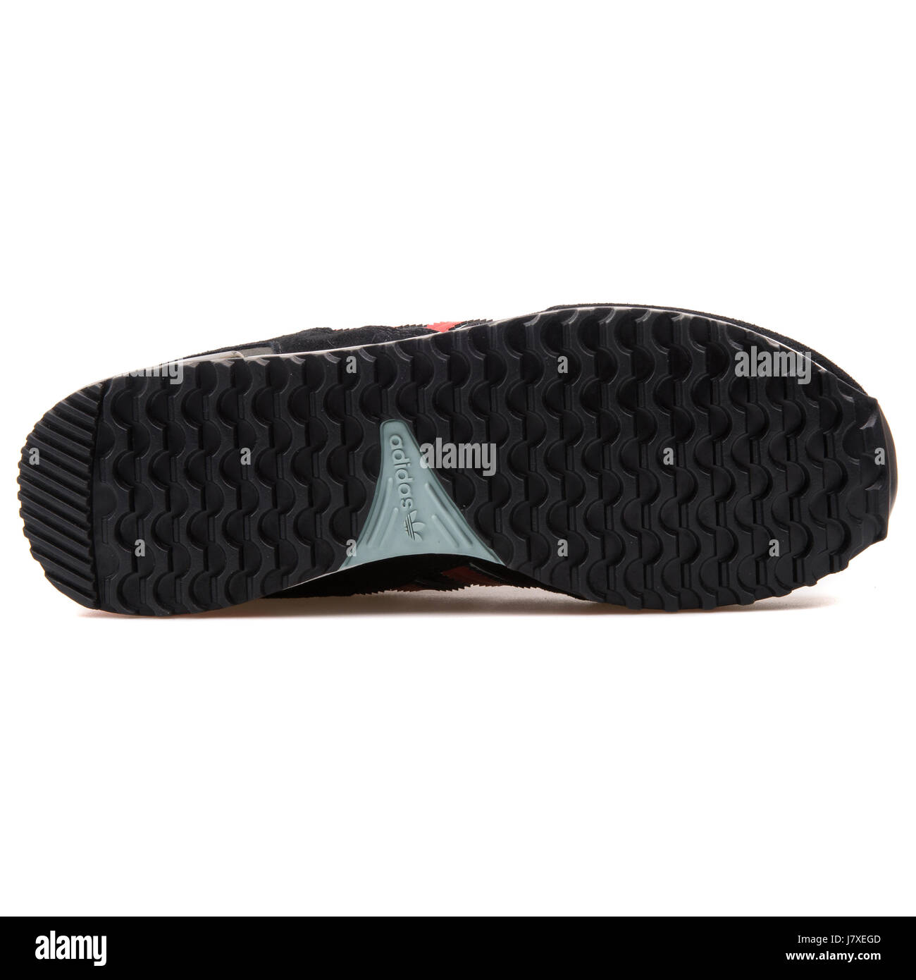 finest selection cf590 96929 Adidas ZX 750 Men s Black with Red Sneakers - B24856 - Stock Image