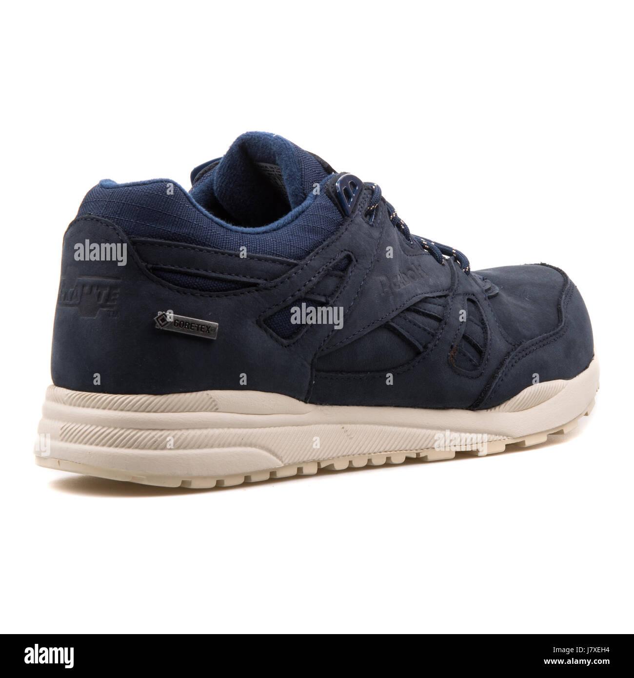 f79cddf99f77 ... Reebok Ventilator Goretex Mens Classic Indigo Blue Walnut Leather  Sneakers - V66308 . ...