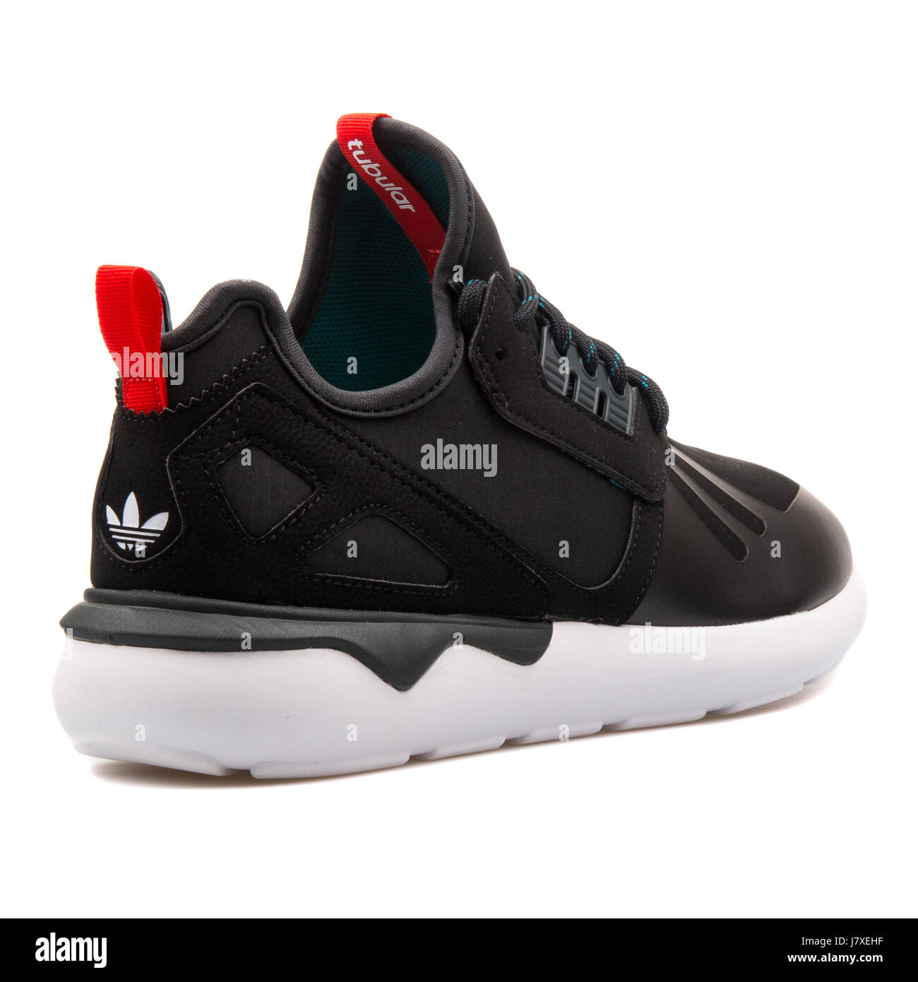 Adidas Tubular Runner Weave Black with Red Running Sneakers - S82651