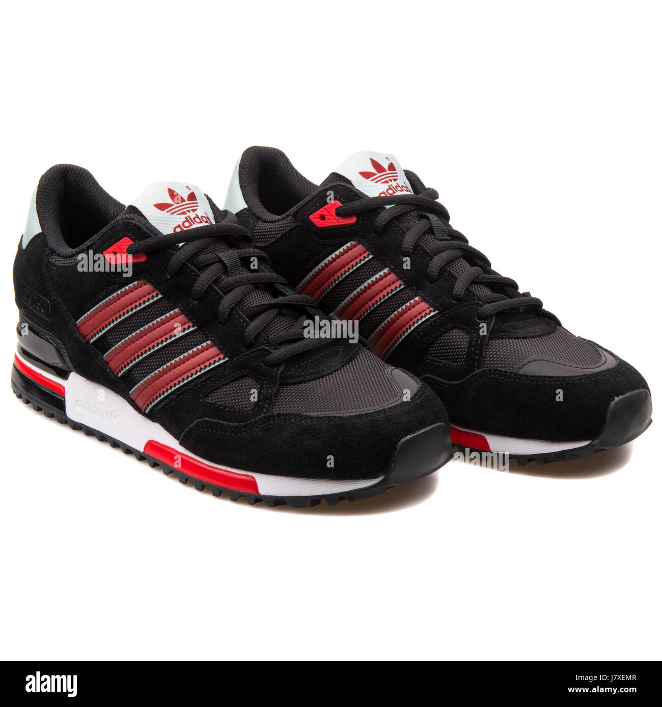 sports shoes 8ad28 d25d5 Adidas ZX 750 Men's Black with Red Sneakers - B24856 Stock ...