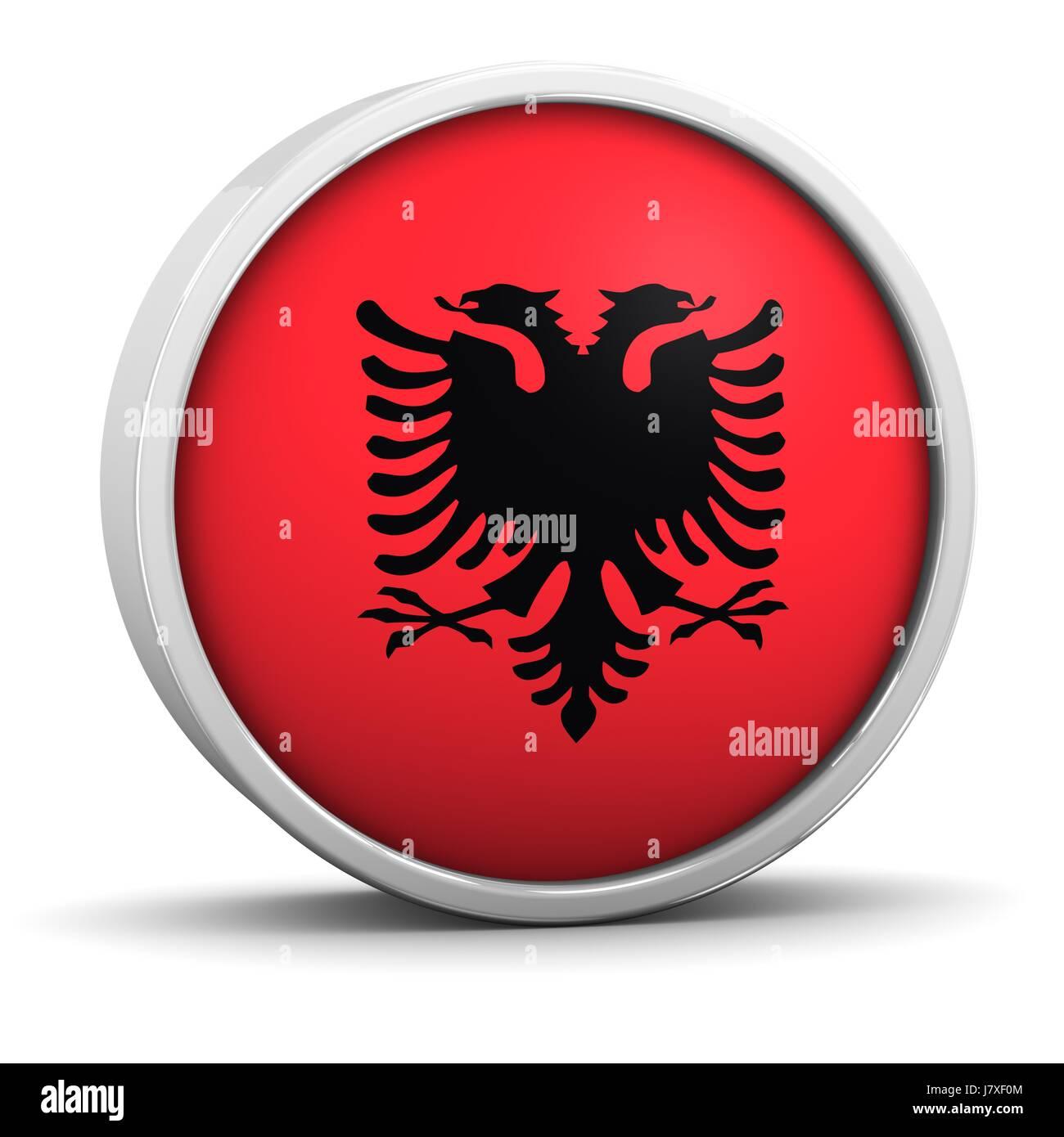black swarthy jetblack deep black flag honor national albania albanian patriot - Stock Image
