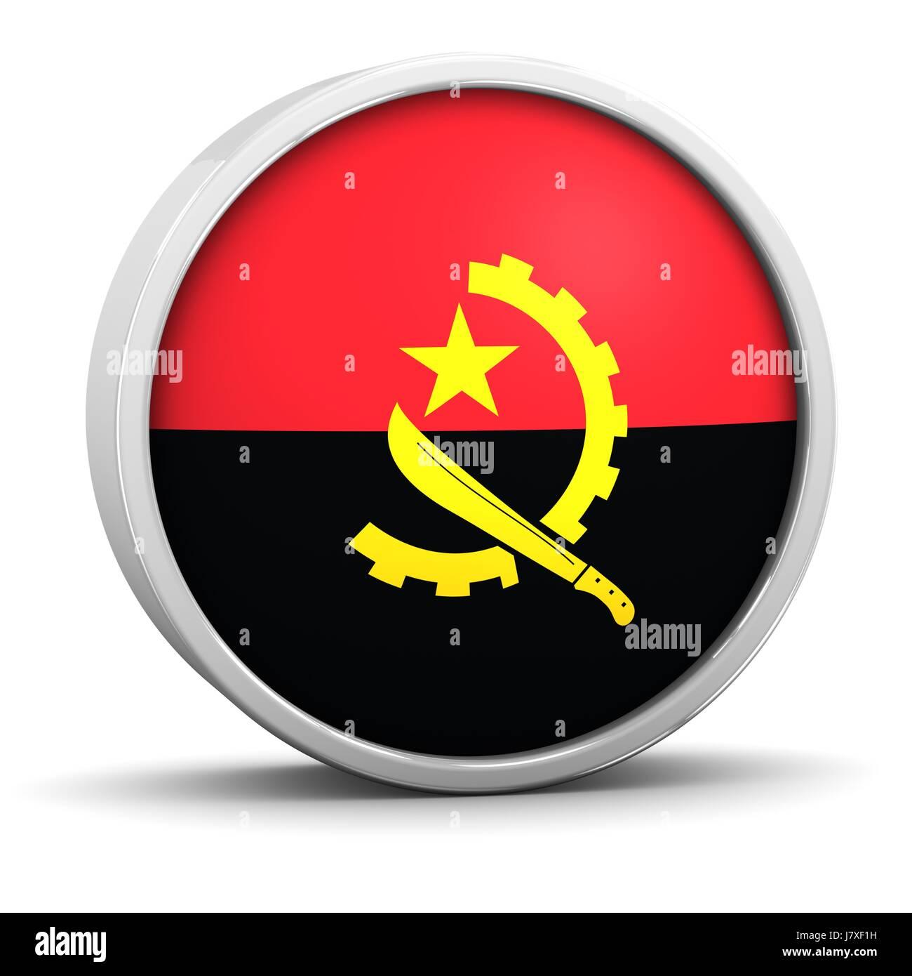 black swarthy jetblack deep black flag honor national patriot angola patriotism - Stock Image