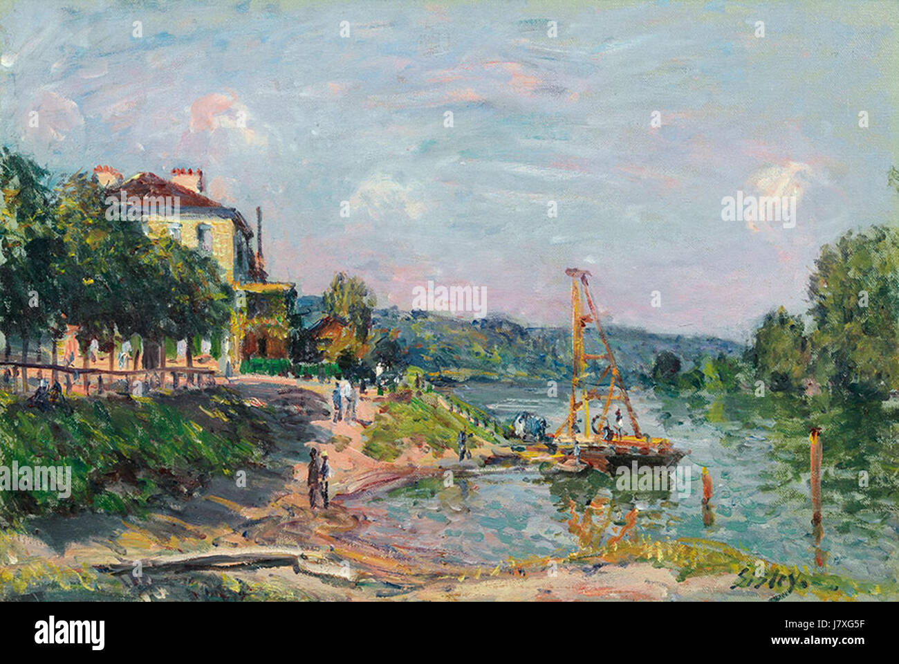 'Le Petit Bougival' by Alfred Sisley, 1874 - Stock Image