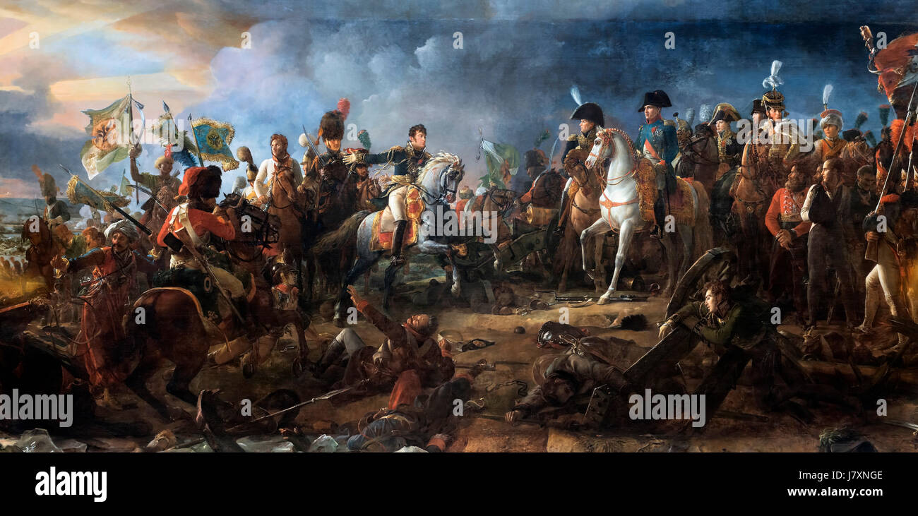 Napoleon Bonaparte at the Battle of Austerlitz on 2nd December 1805 by Francois Gerard, oil on canvas, 1810. The - Stock Image
