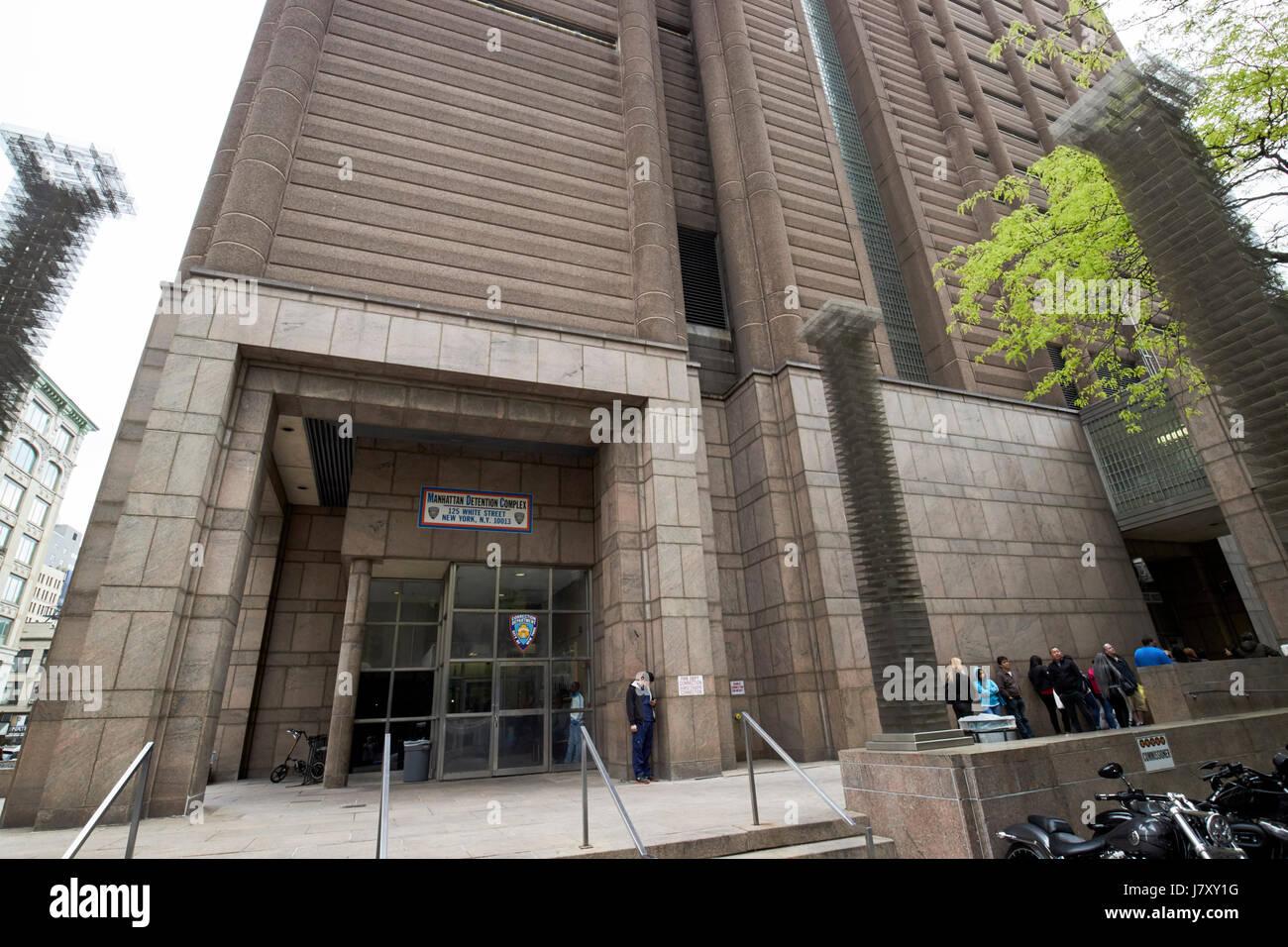 manhattan detention complex metropolitan correction center manhattan New York City USA - Stock Image