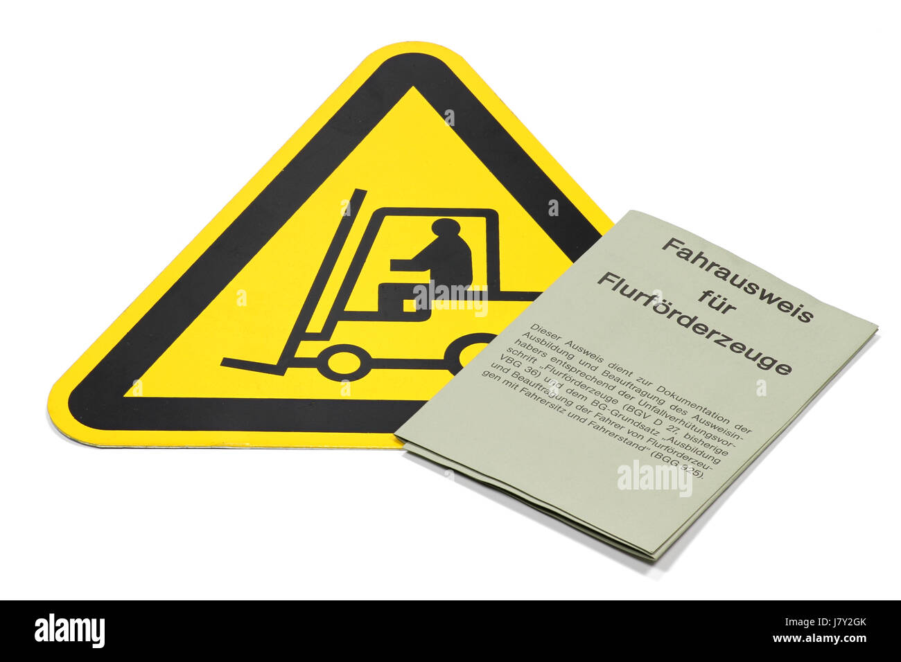 German driving license for forklift trucks isolated on white background Stock Photo