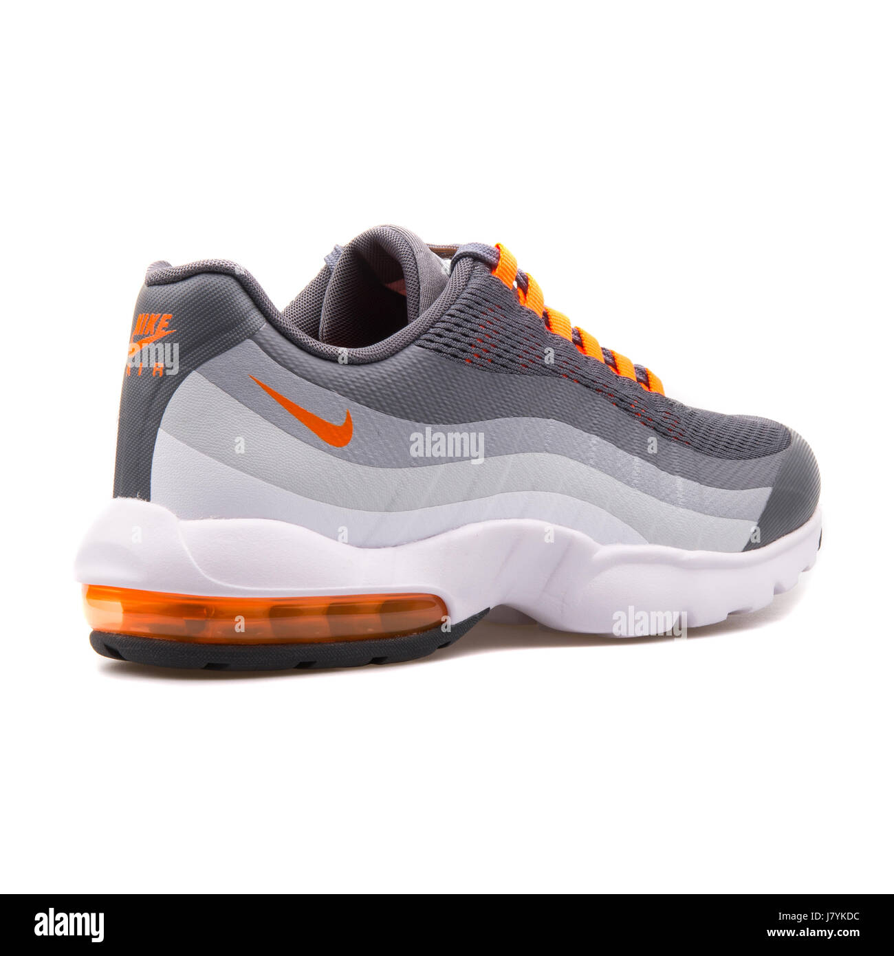 wholesale dealer 6bc6d a6c77 Nike WMNS Air Max 95 Ultra Grey and Orange Running Sneakers - 749212-001 -