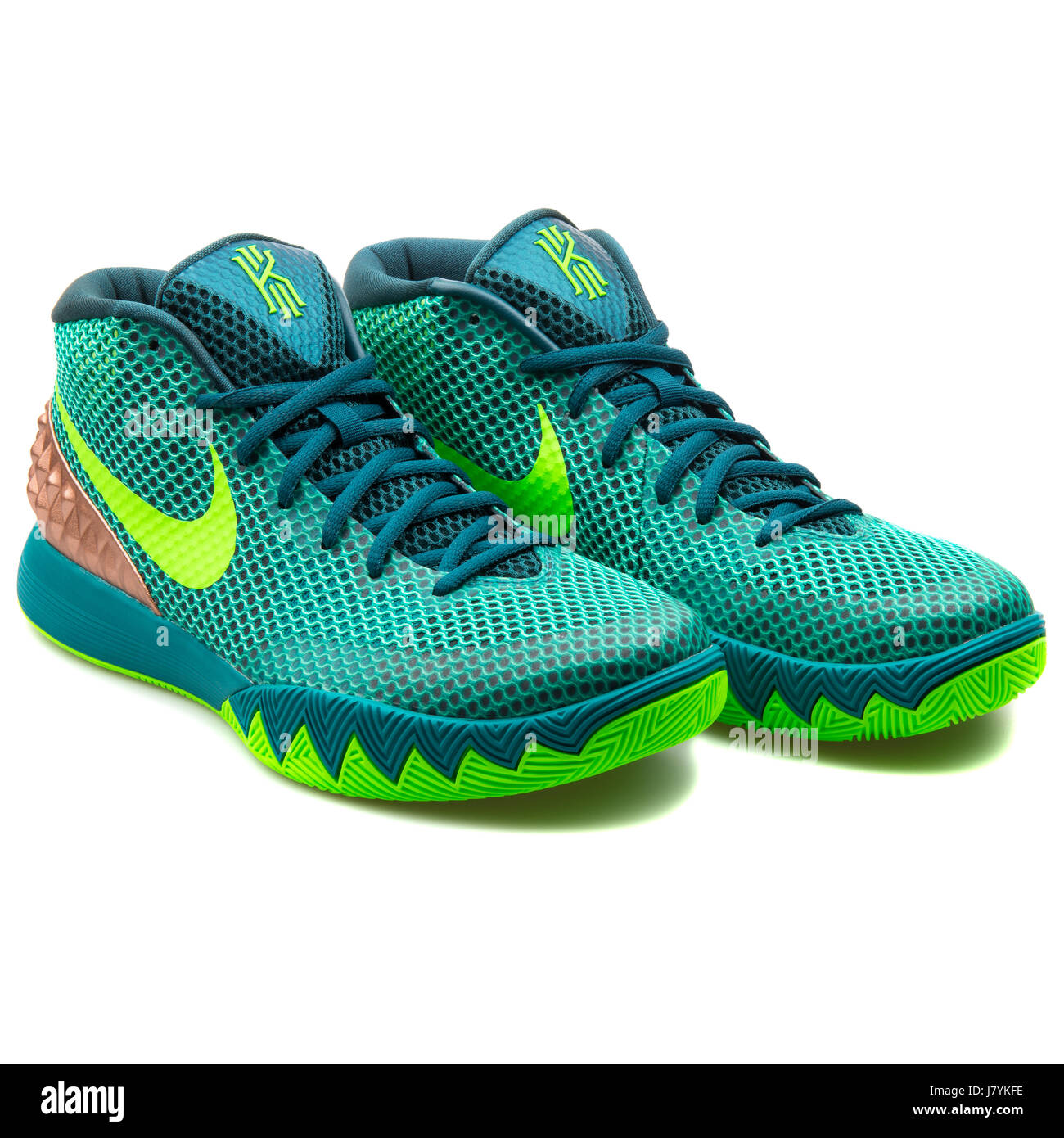 the best attitude c29d2 04cfe ... norway nike kyrie 1 mens green basketball sneakers 705277 333 stock  image 63cf3 460b2