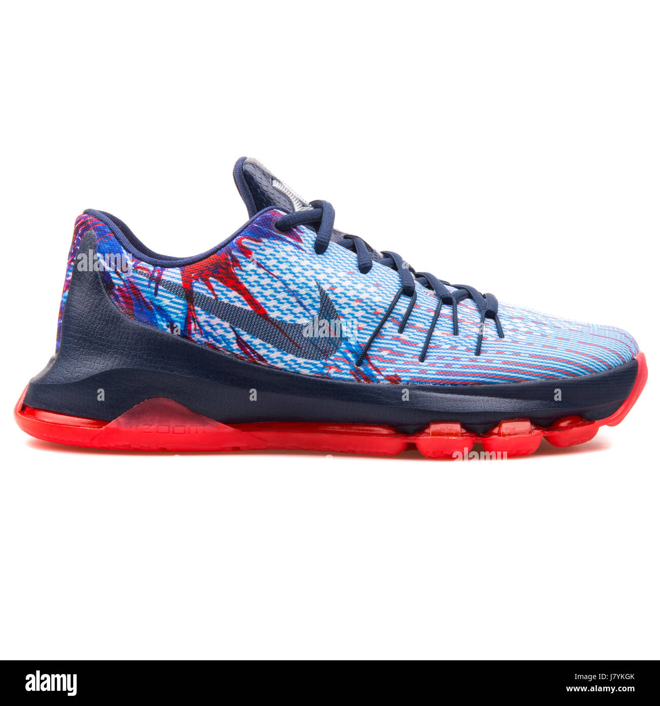 premium selection 4fda6 4fbe8 Nike KD 8 (GS) Youth Navy Blue Crimson Basketball Sneakers ...